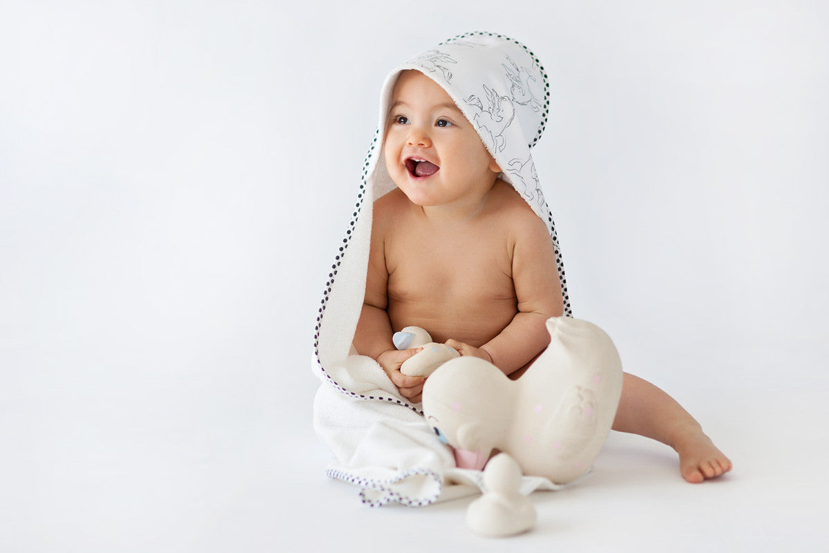 Organic Baby Towel at Bonjour Baby Baskets