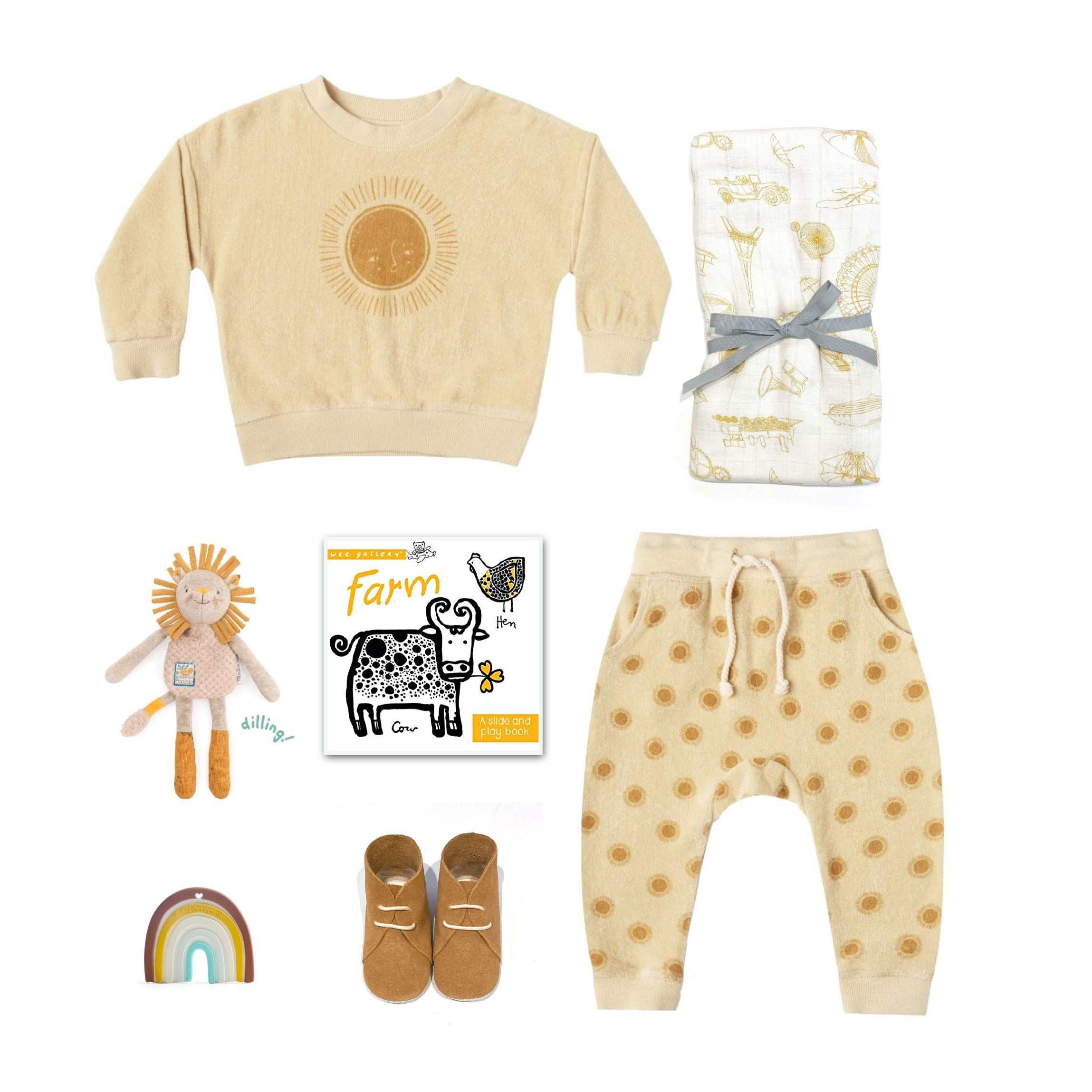 Trendy Baby Gift Basket featuring Rylee and Cru