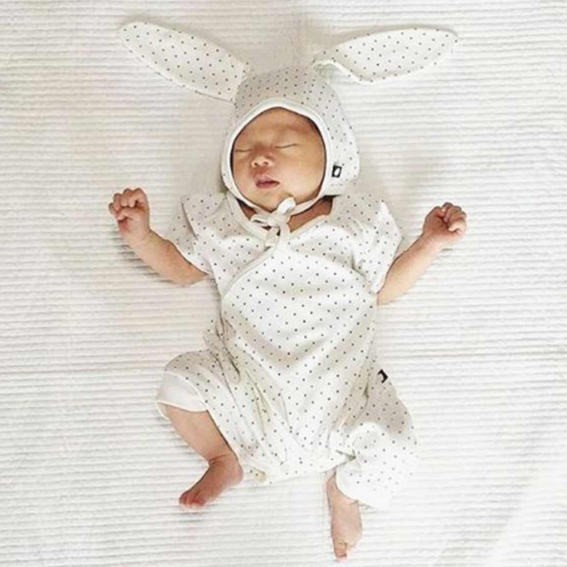 Baby with bunny hat from Bonjour Baby Baskets
