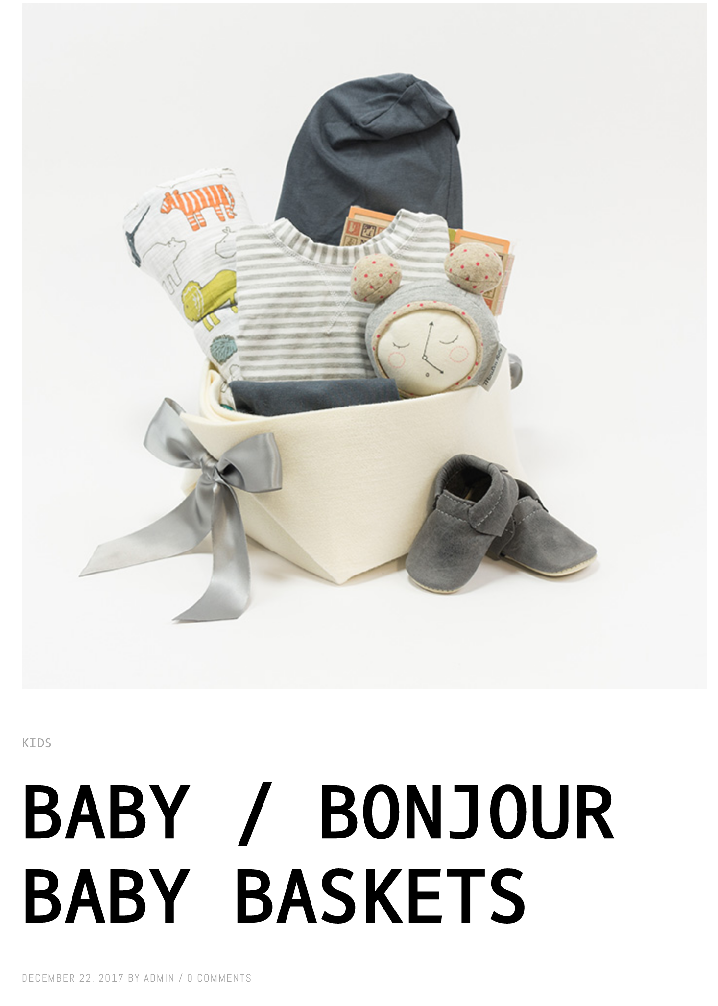 Blog about Bonjour Baby Baskets on Target Littles