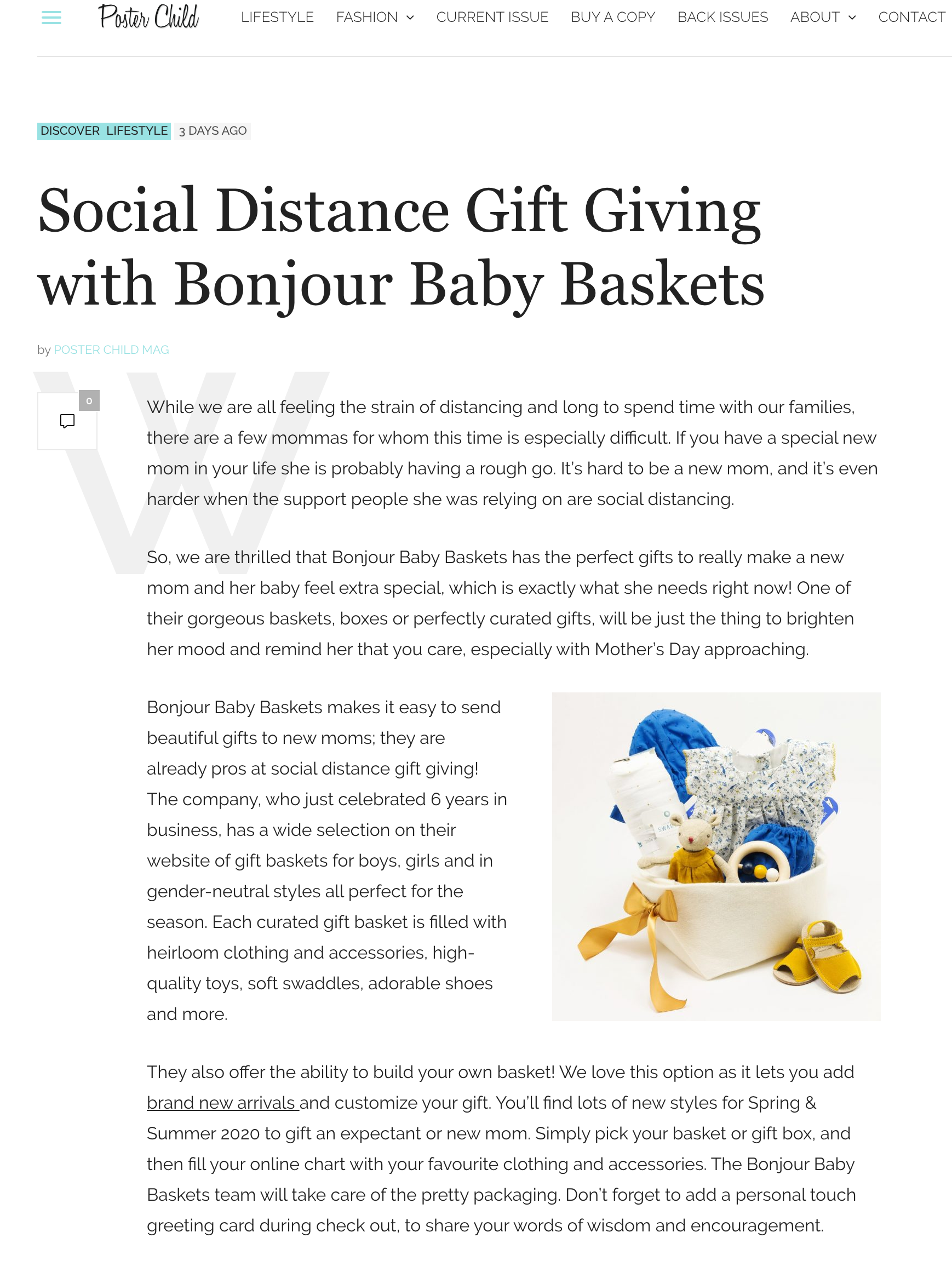 Social Distance Gift Giving with Bonjour Baby Baskets
