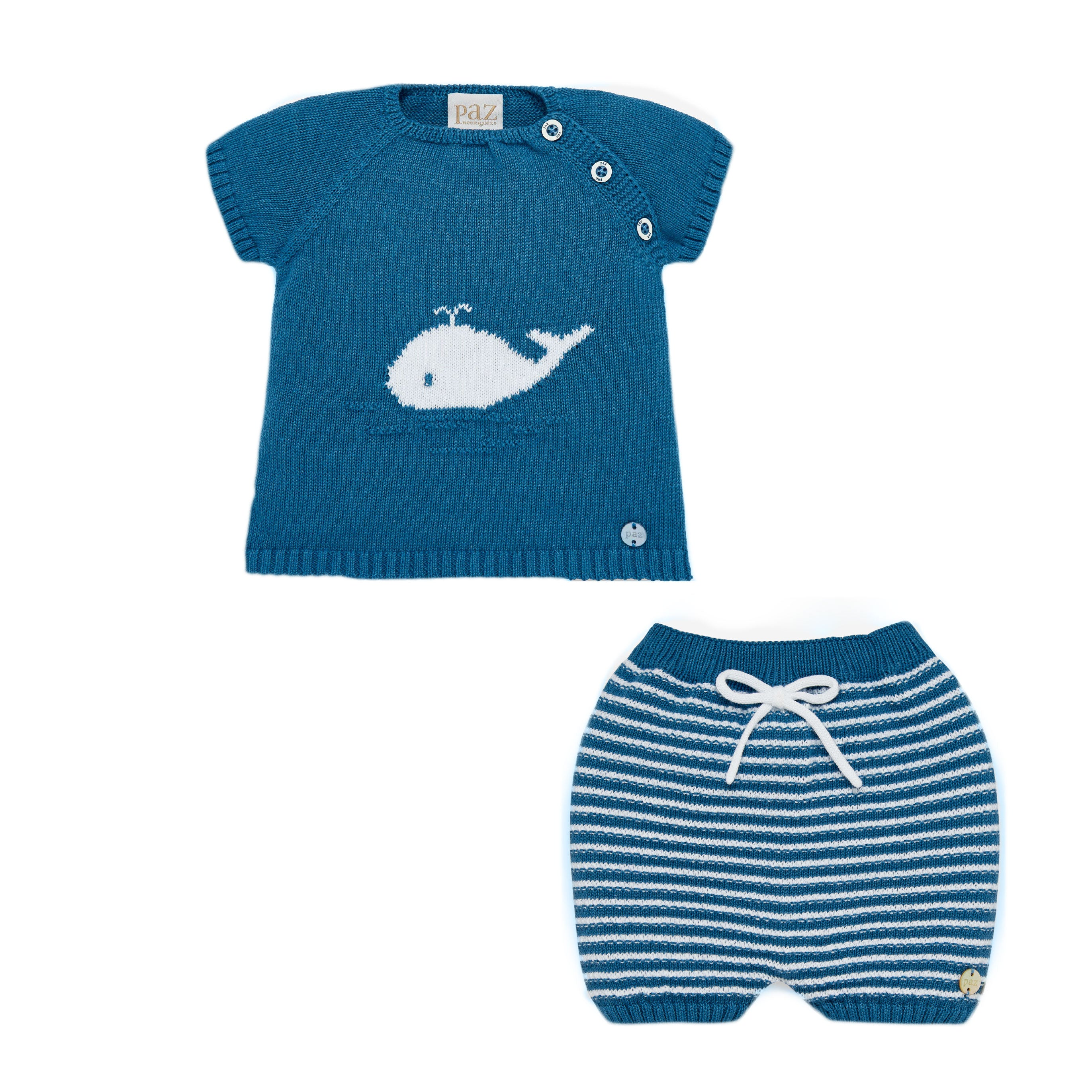 Paz Rodriguez baby boy gift available at Bonjour Baby Baskets, luxury baby gifts