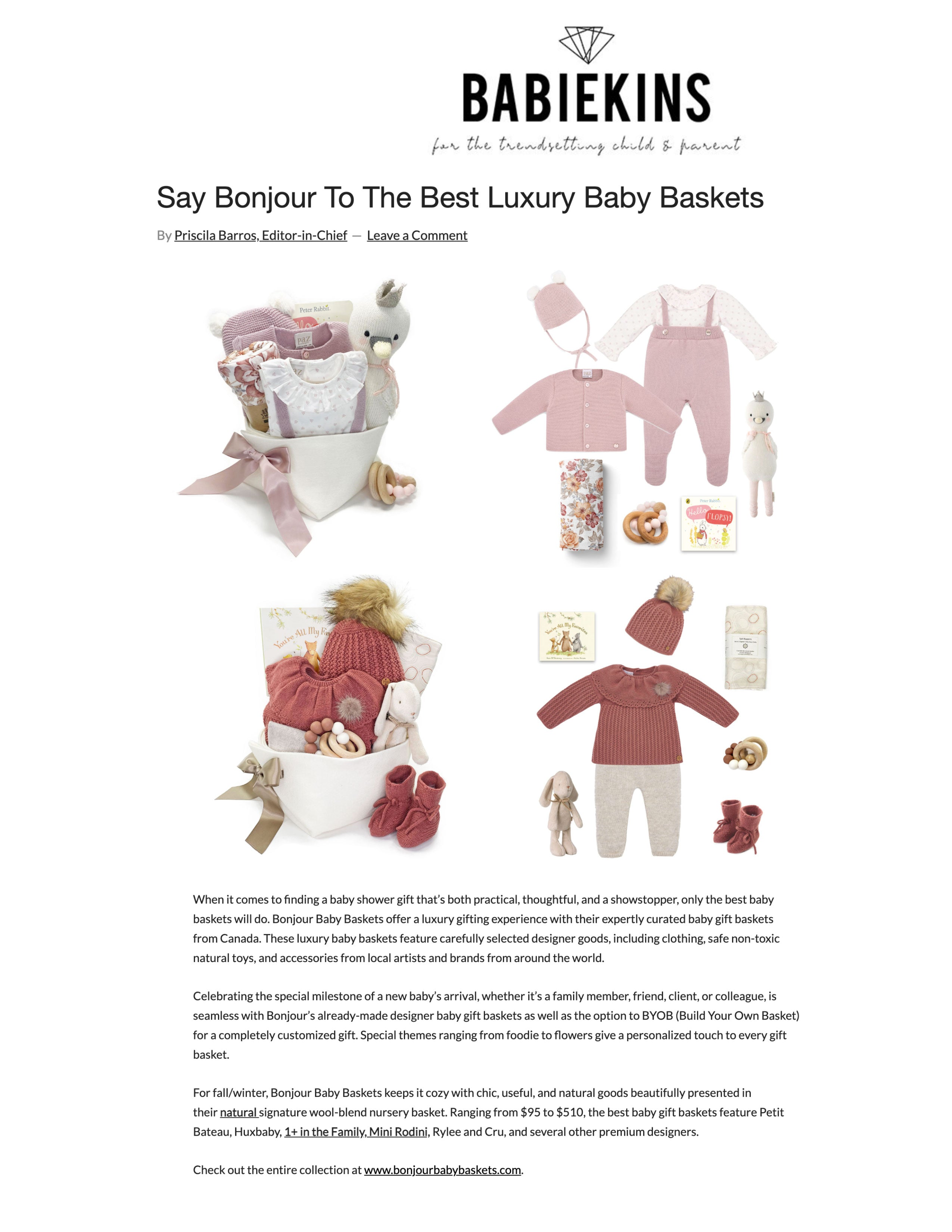 Review of Bonjour Baby Baskets Luxury Baby Gifts