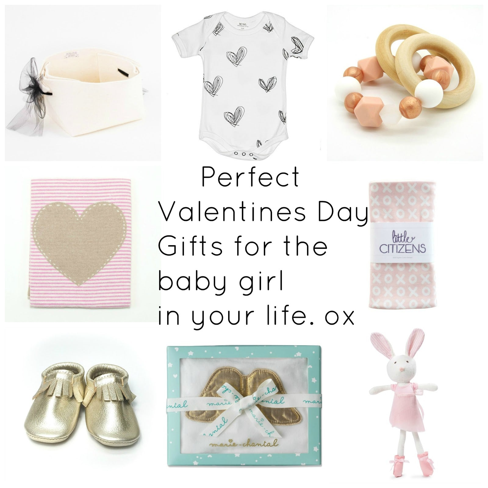 Valentine's Day Baby Girl Inspiration Gift by Bonjour Baby Baskets