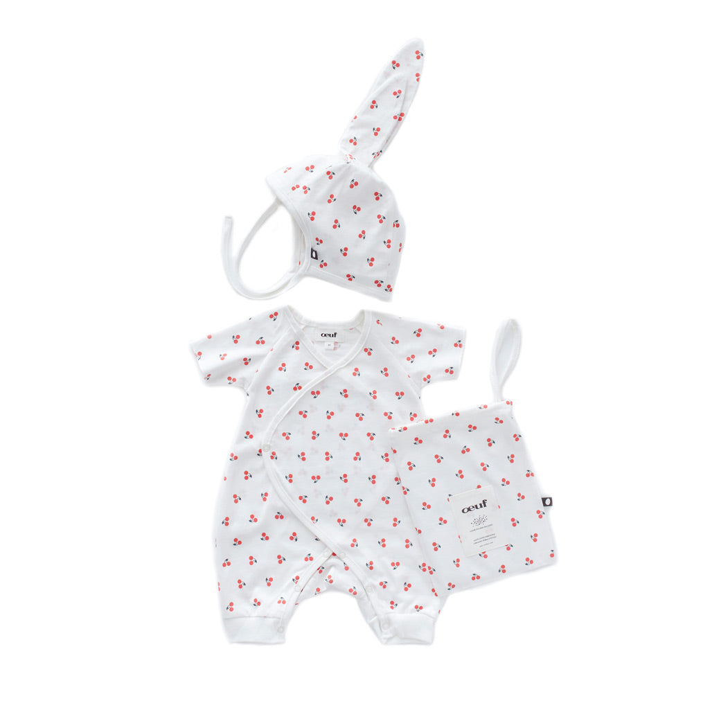 Cherries Organic Cotton Baby Gift by Oeuf at Bonjour Baby Baskets