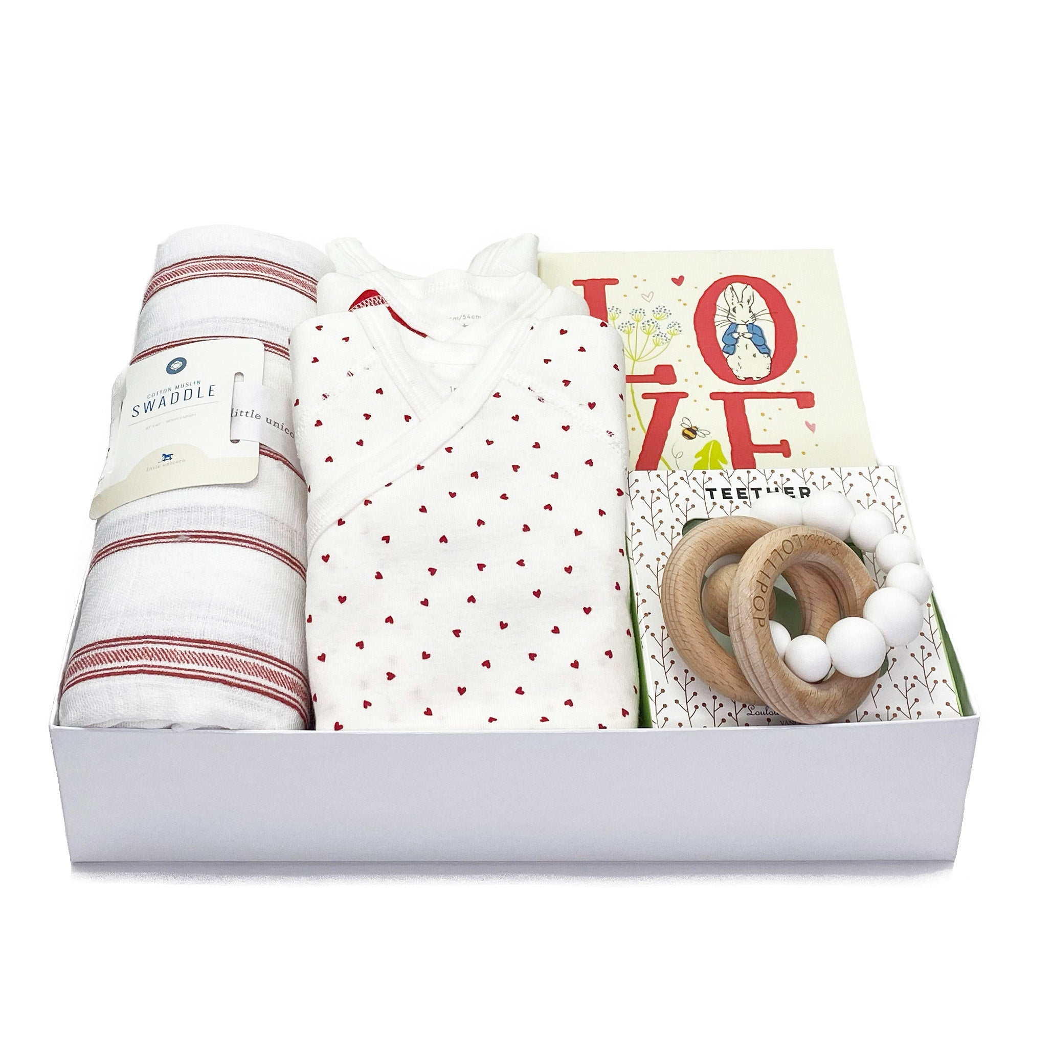 Love Baby Gift Box at Bonjour Baby Baskets, Luxury Baby Gifts
