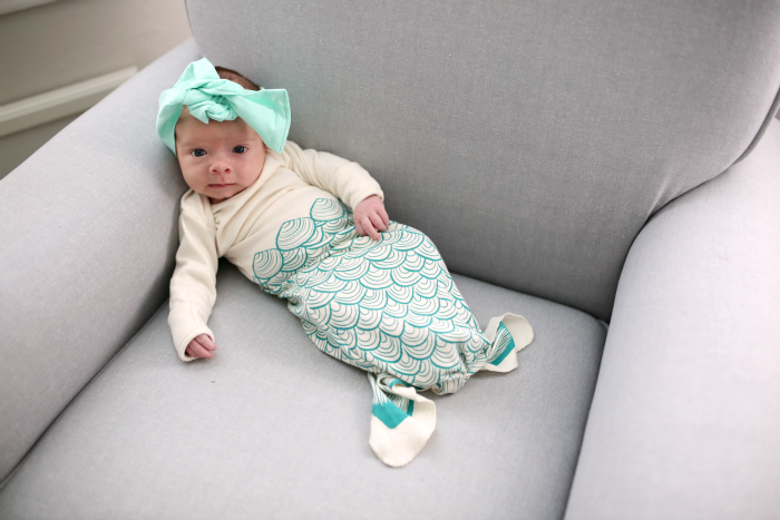 Sweet Baby Mermaid with Electrik Kidz Sleeping Gown at Bonjour Baby Baskets