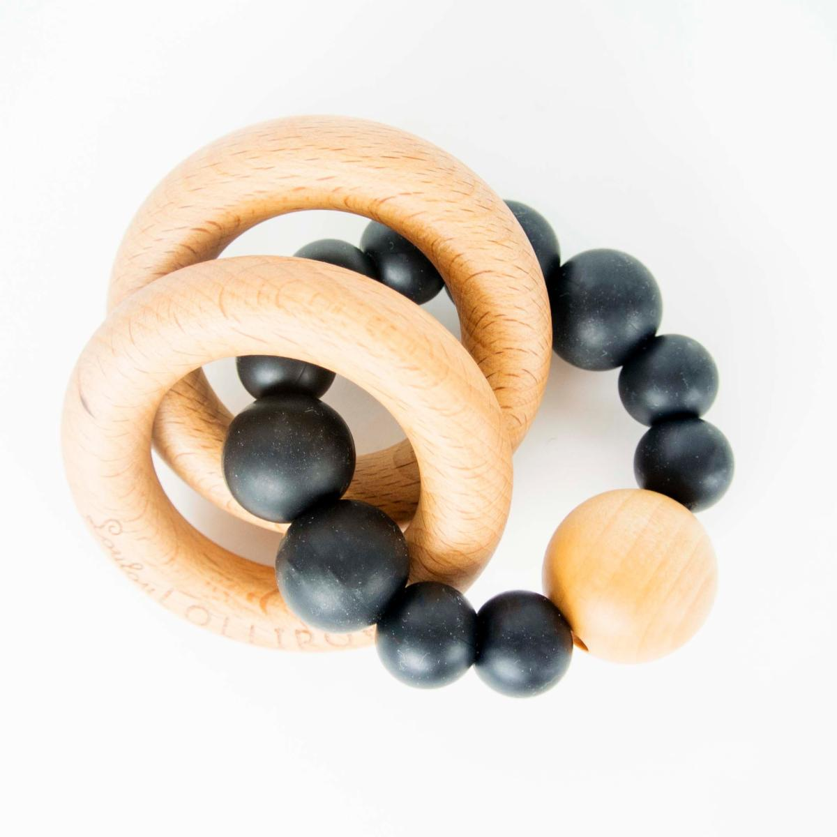 Silicone Teether in Black