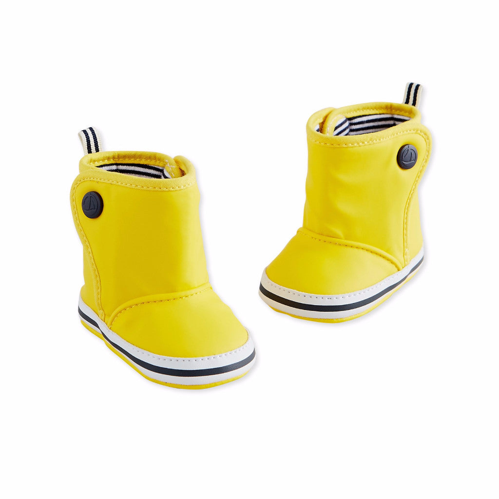 Petit Bateau Baby Yellow Rain Booties at Bonjour Baby Baskets