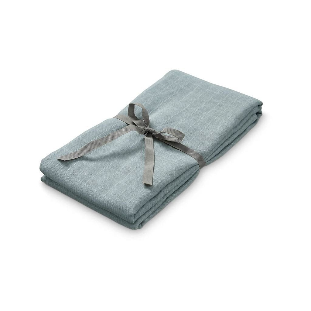 Organic Baby Swaddle in petroleum colour at Bonjour Baby Baskets