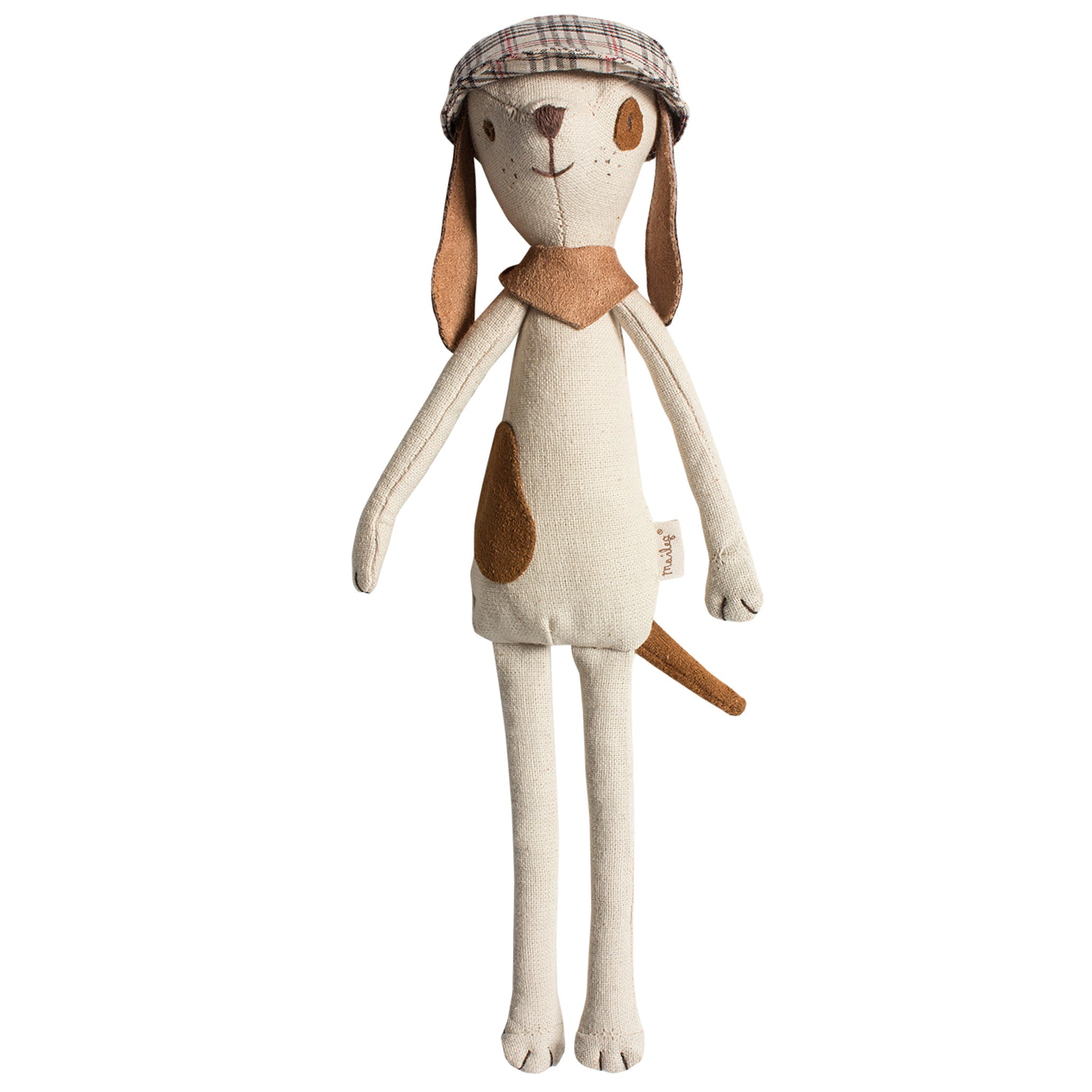Mini Doggy with Hat by Maileg at Bonjour Baby Baskets