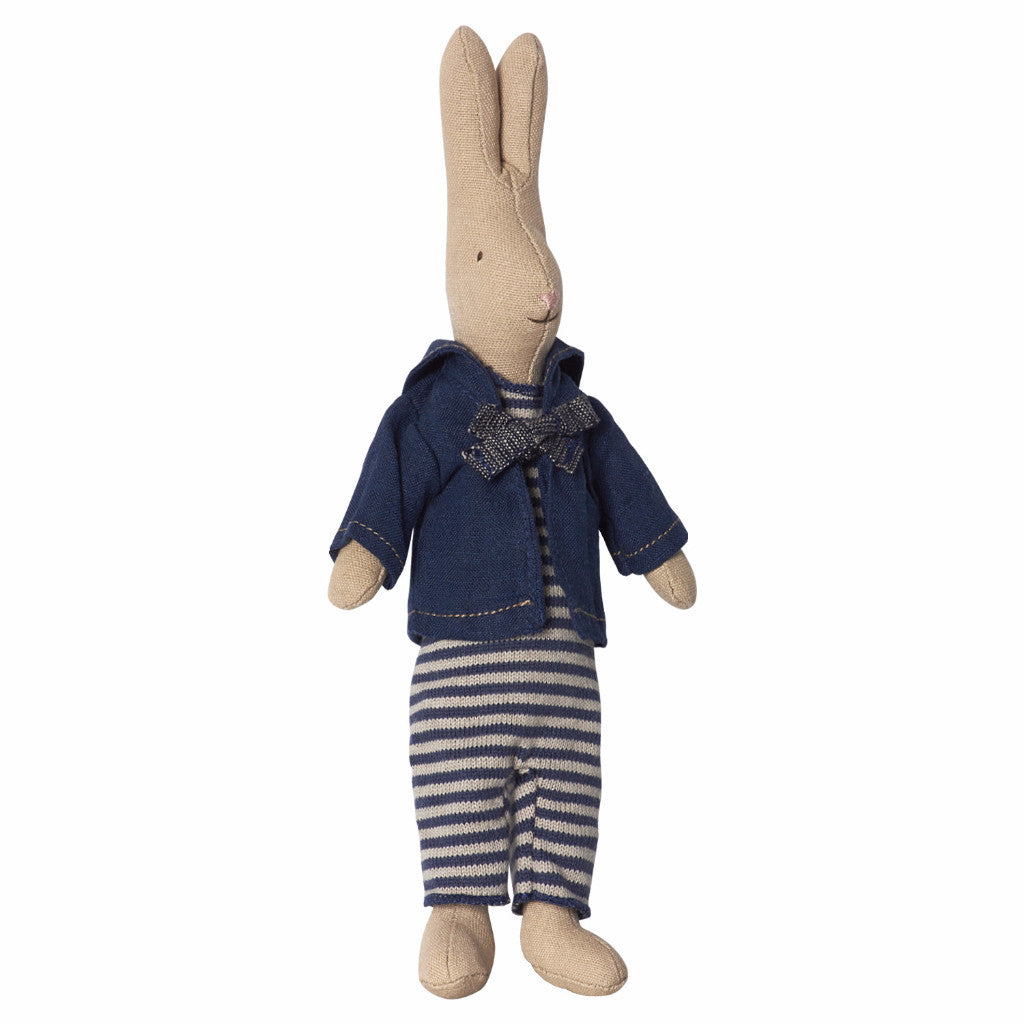 Mini Rabbit with Navy Suit by Maileg at Bonjour Baby Baskets