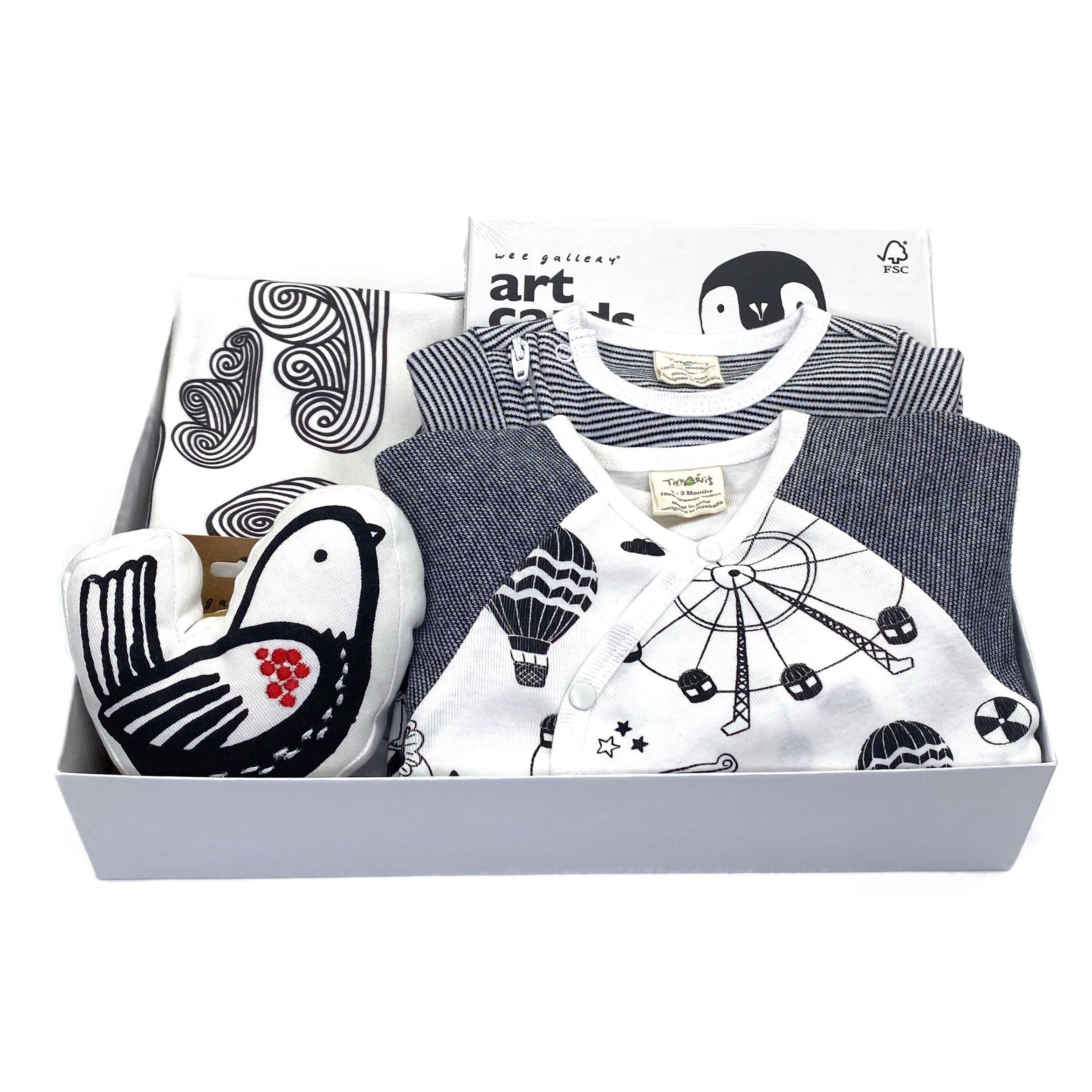 Monochrome Baby Gift at Bonjour Baby Baskets, best baby baskets