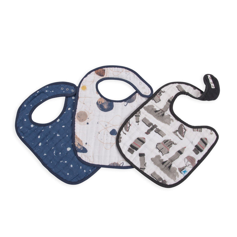 Little Unicorn Classic Bibs Planetary at Bonjour Baby Baskets - Luxury Baby Gifts