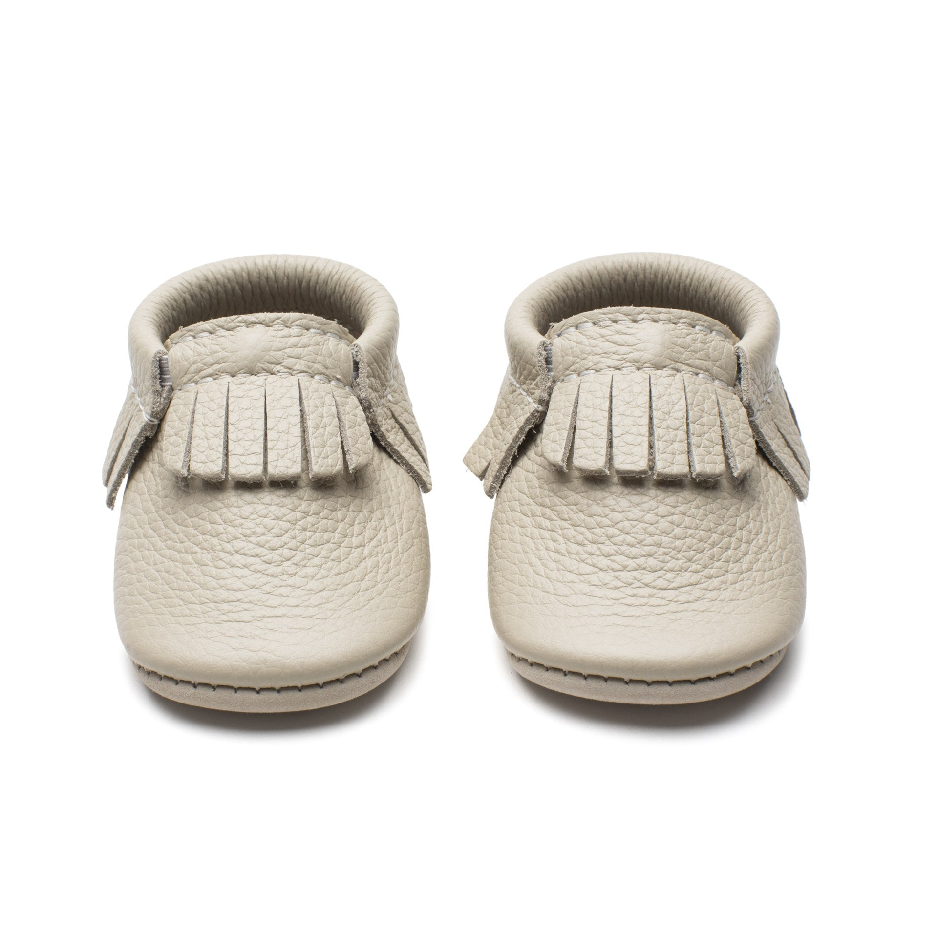 Trendy Leather Baby Moccasins at Bonjour Baby Baskets