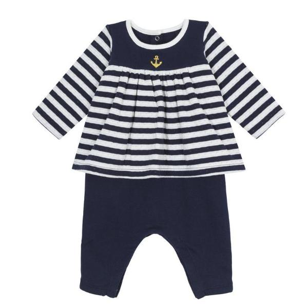 Petit Bateau 'Two in One' Baby Dress with leggings