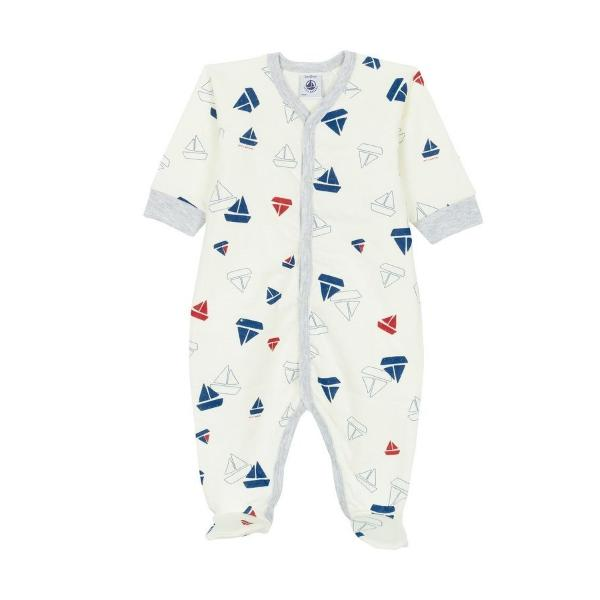 Petit Bateau cotton Baby Sleeper with boats
