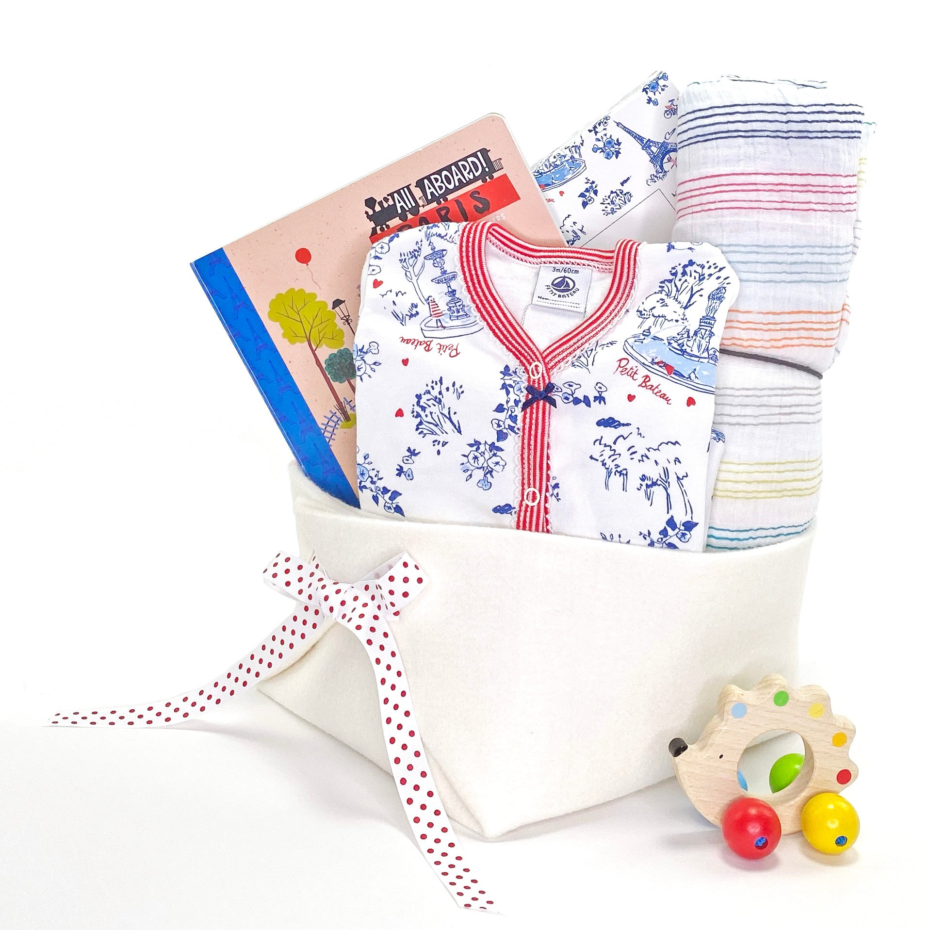Luxury Baby Gift Basket at Bonjour Baby Baskets featuring Petit Bateau