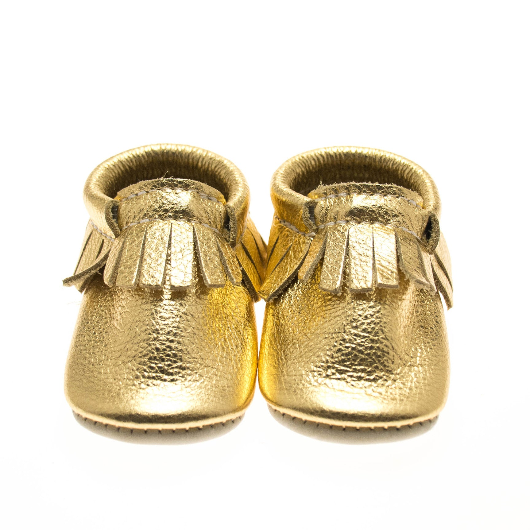Gold Leather Baby Mocs