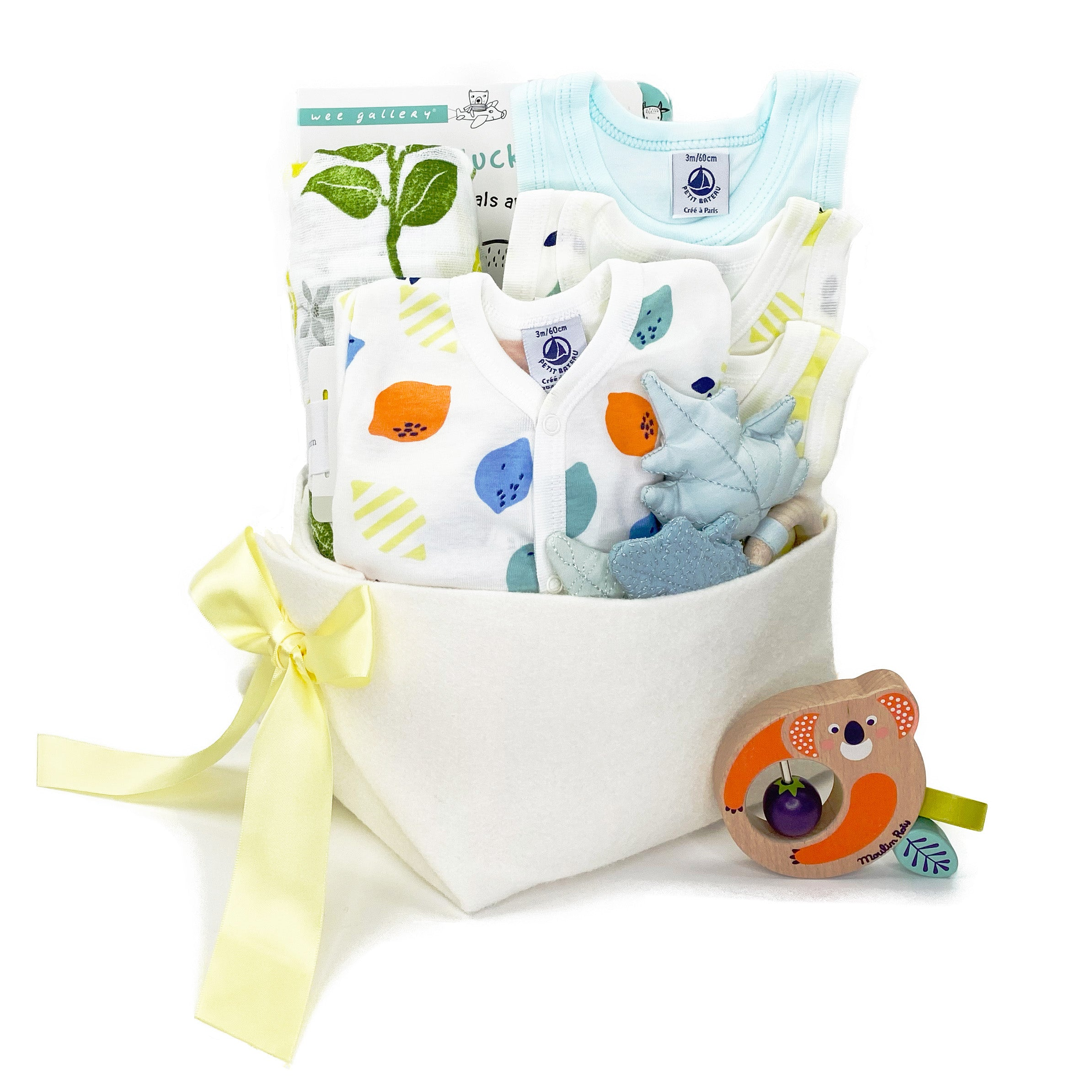 Petit Bateau Luxury Baby Gift Gift Basket, perfect for a Corporate Baby Gift
