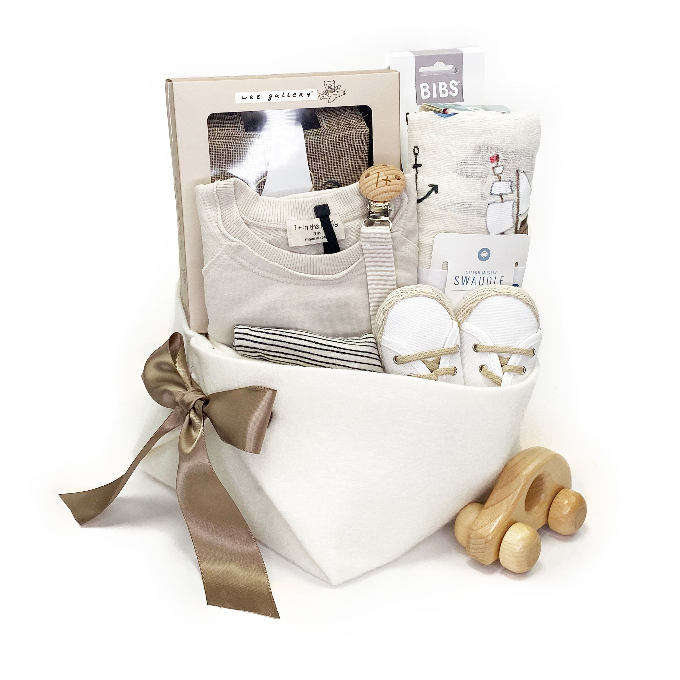 1+ in the Family Baby Gift Basket great Corporate Baby Gift