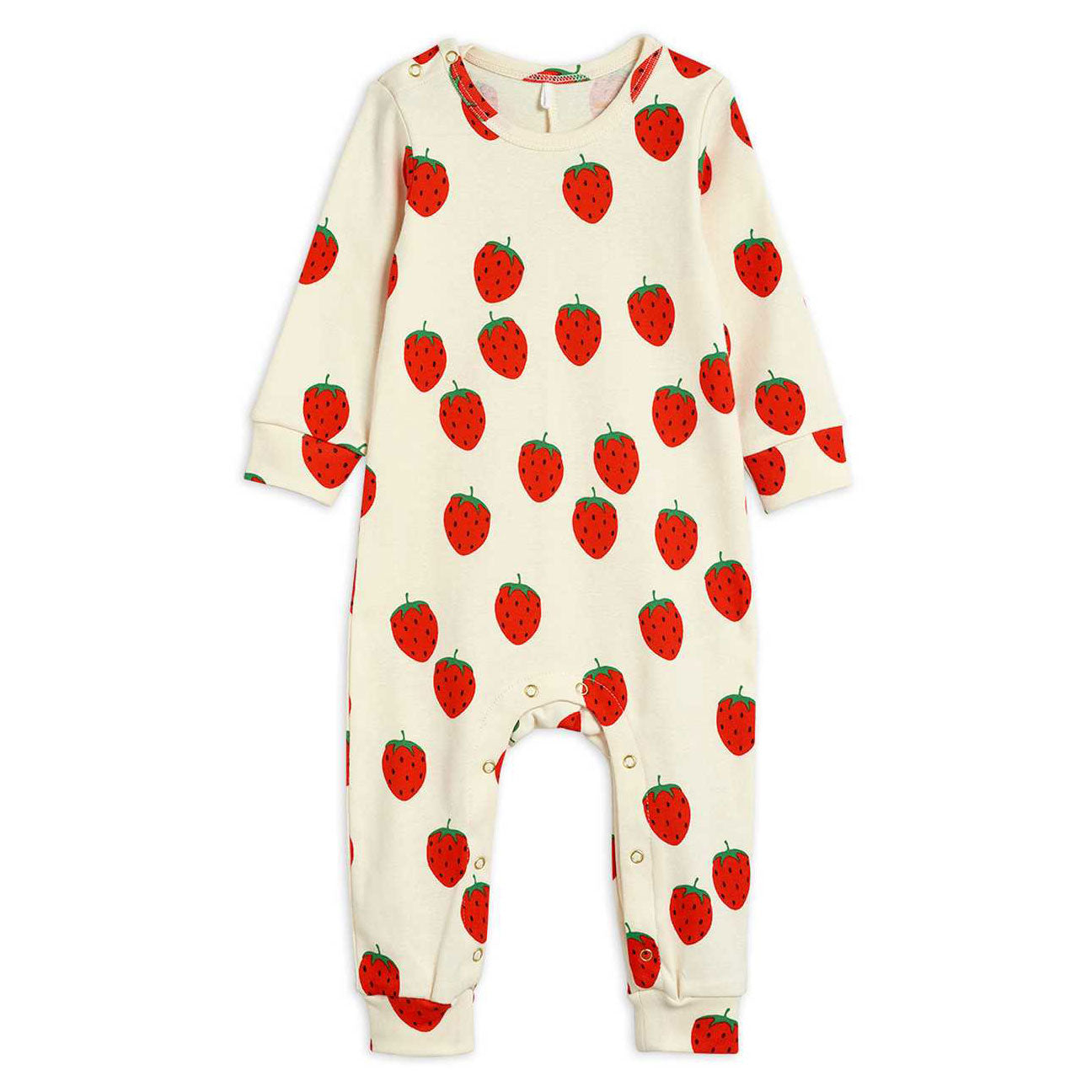 Mini Rodini Baby Romper with strawberries at Bonjour Baby Baskets