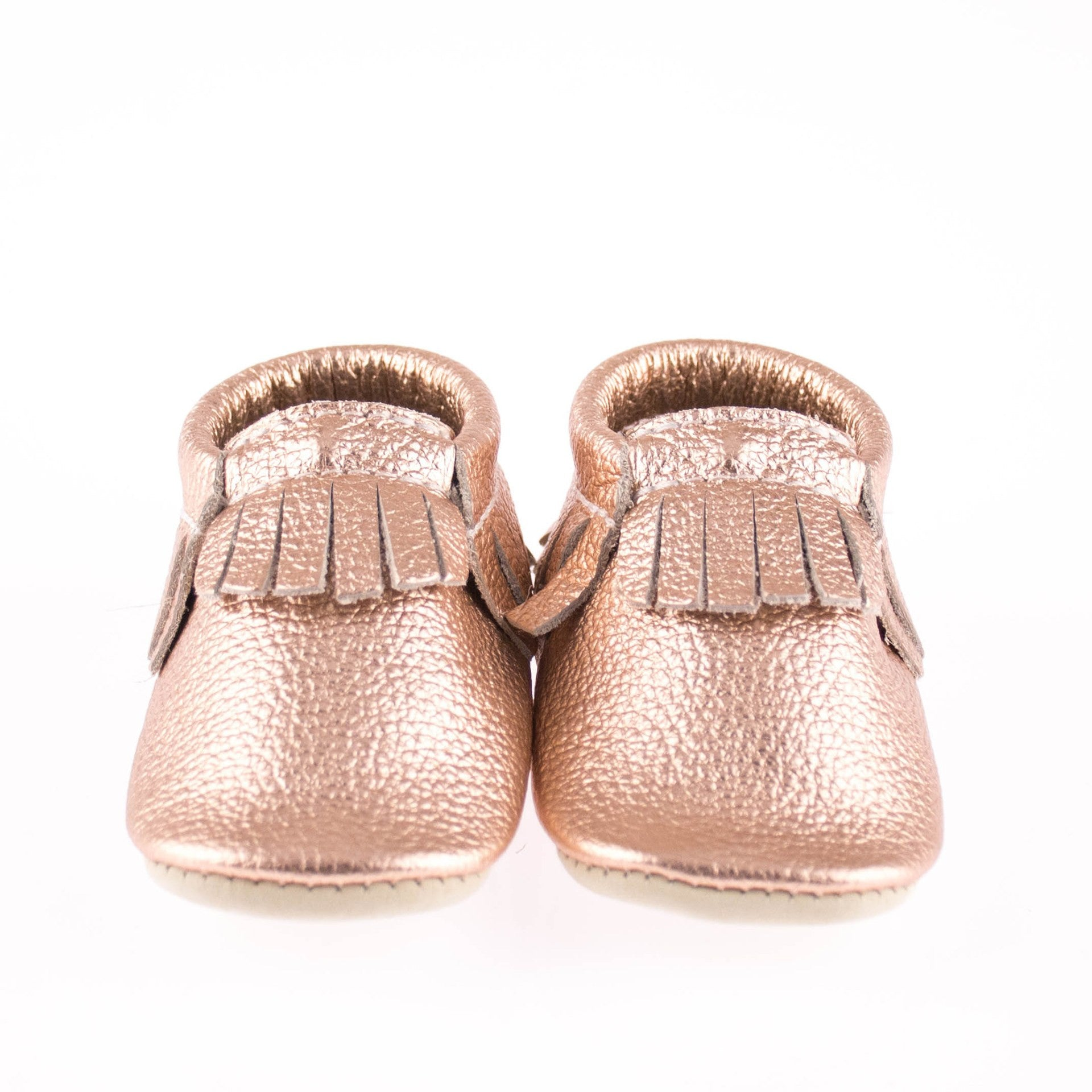 Rose Gold Baby Mocs Luxury Baby Gifts