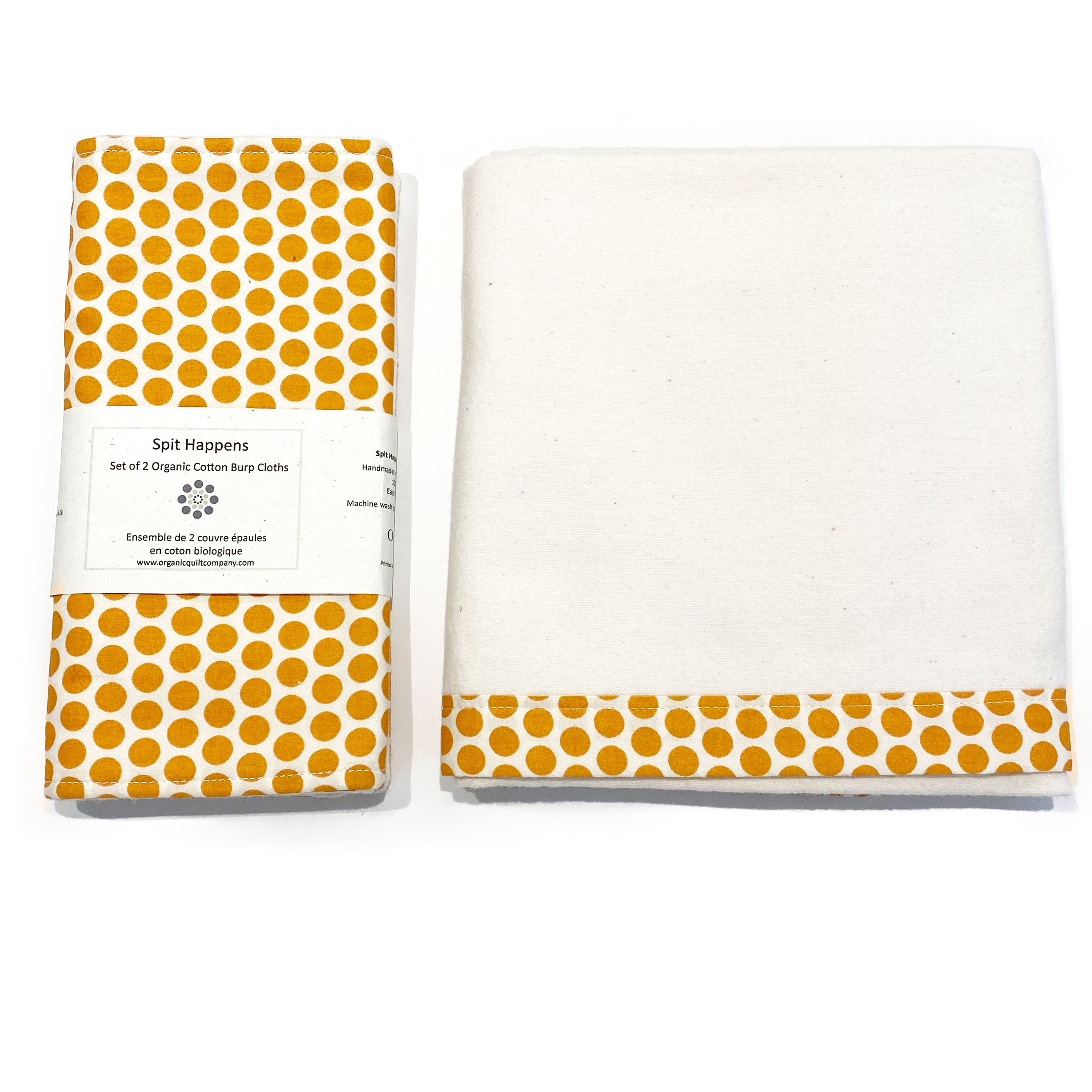 Organic Swaddle and Burp Cloths set at Bonjour Baby Baskets