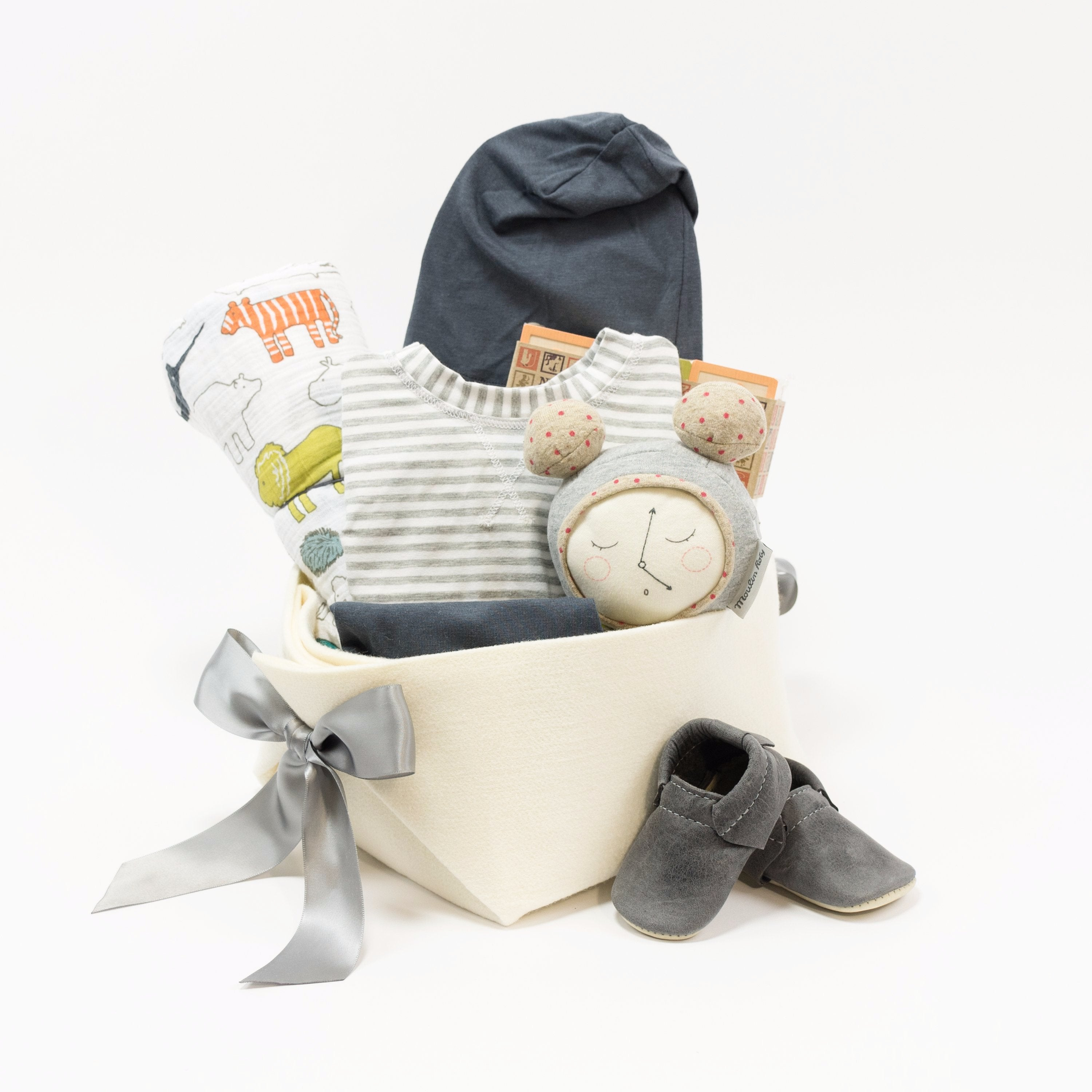 Trendy Baby Gift Basket at Bonjour Baby Baskets