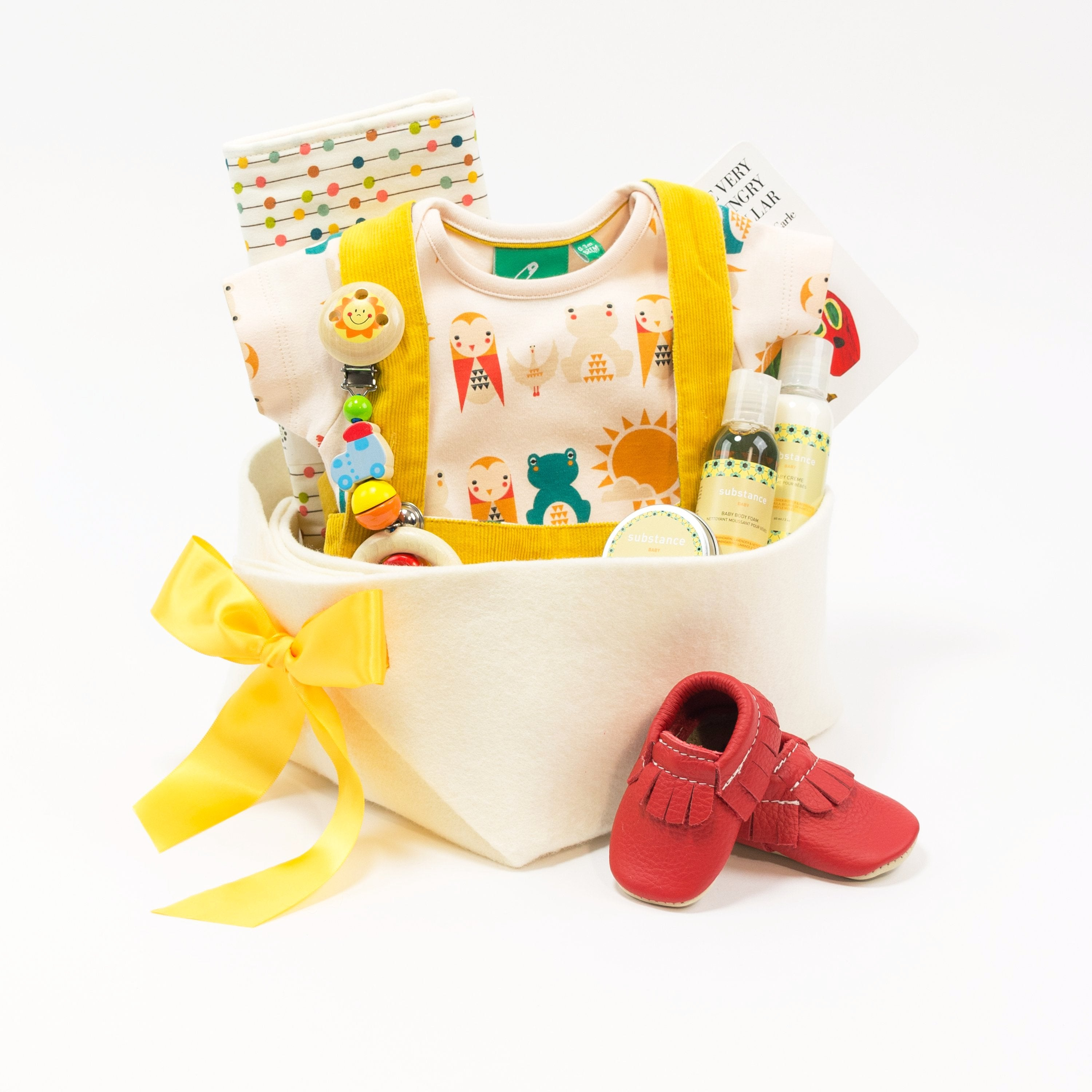 Colorful Luxury Baby Gift Basket
