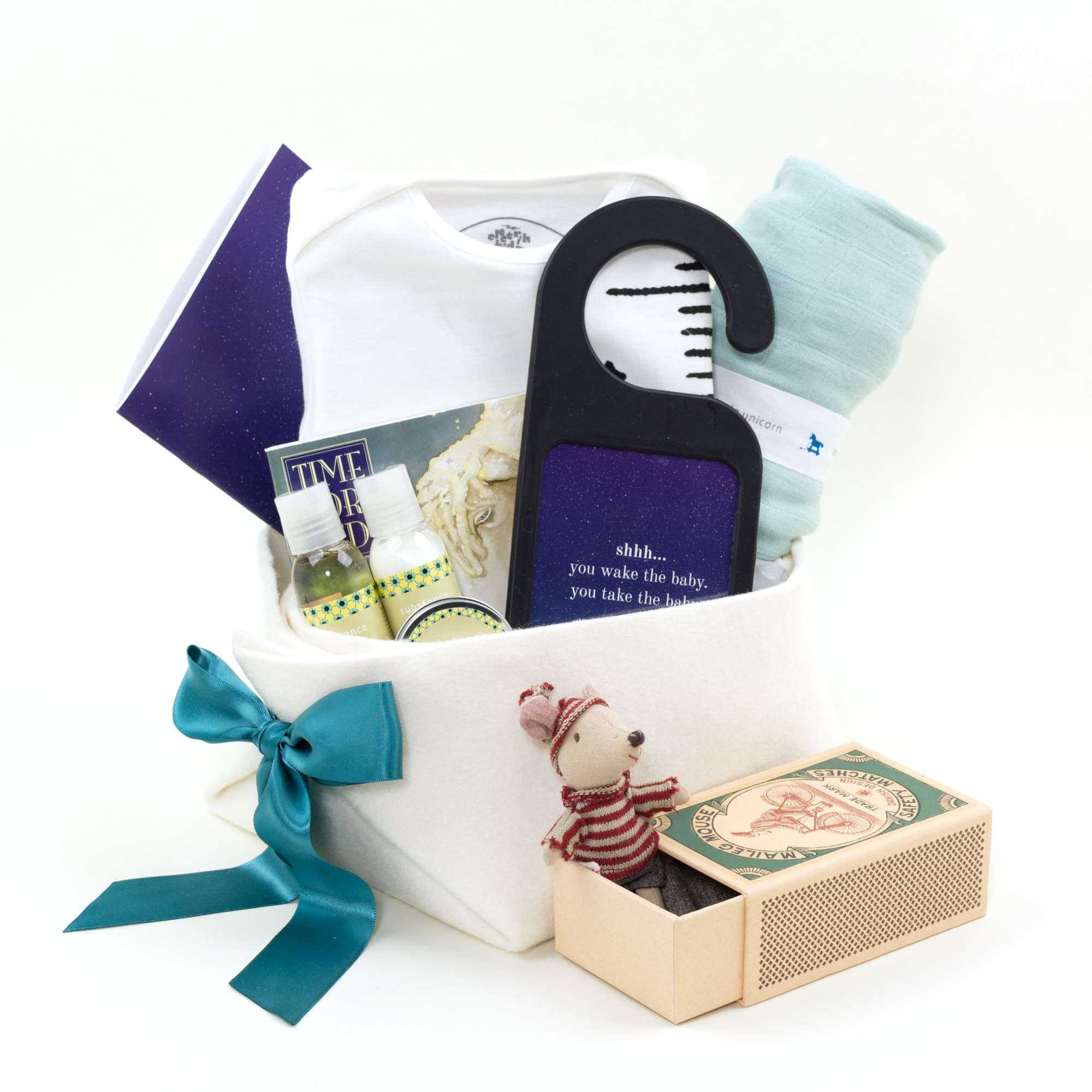 Welcome Home Baby Gift Basket in Neutral