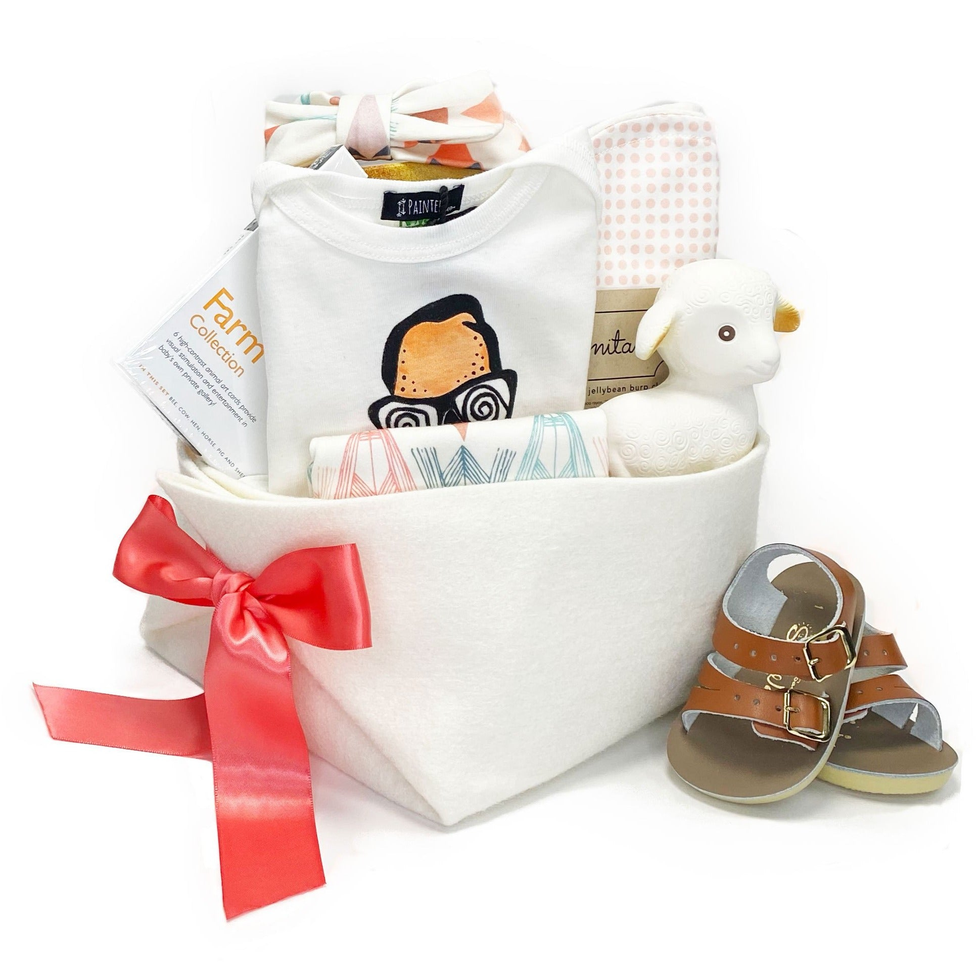 Baby Girl Gift at Bonjour Baby Baskets, perfect Corporate Baby Gift