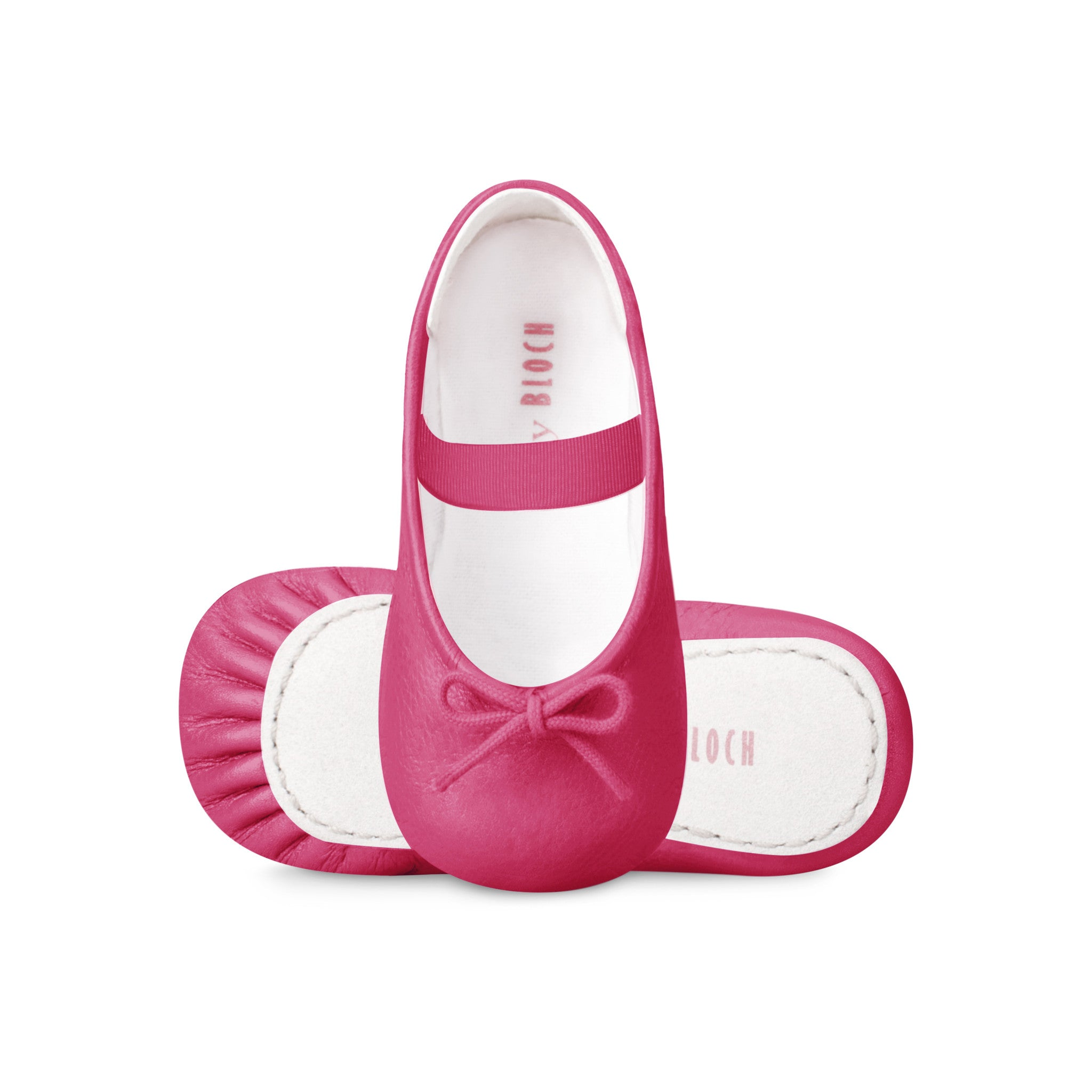 Hot pink Ballerina flats by Bloch at Bonjour Baby Baskets