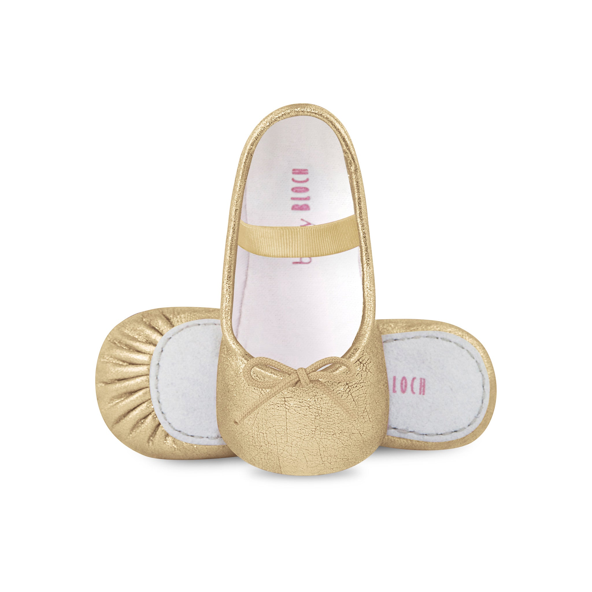 Gold baby Bloch at Bonjour Baby Baskets
