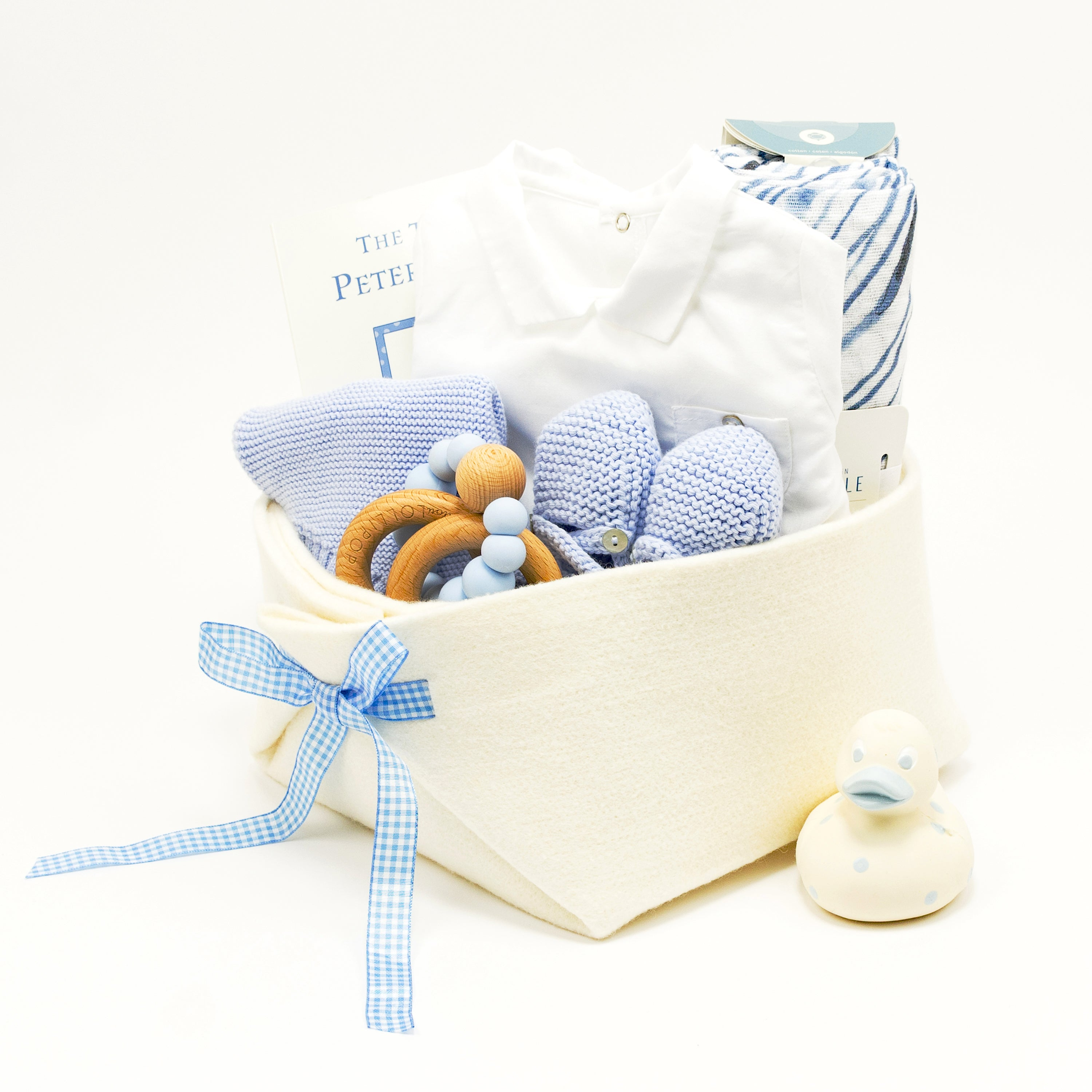 Luxury Baby Boy Gift Basket at Bonjour Baby Baskets, perfect Corporate Baby Gifts
