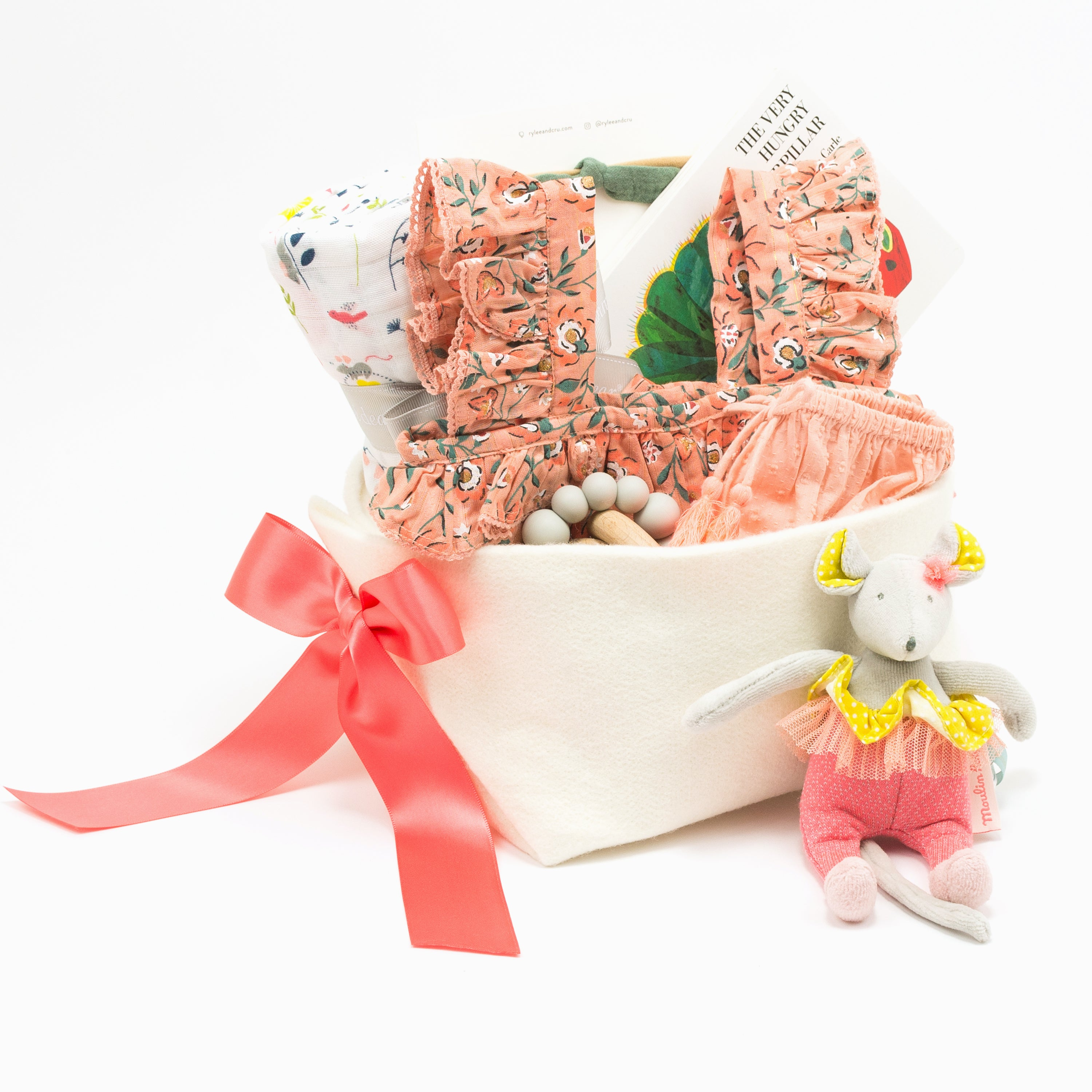 Luxury Baby Girl Gift Basket at Bonjour Baby Baskets, perfect for your Corporate Baby Gifts
