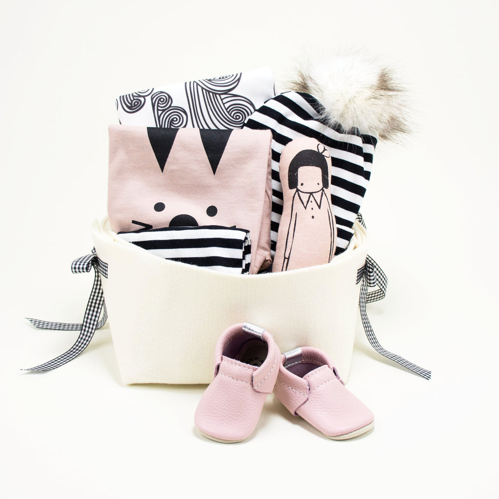 7107f61f2d7dc Trendy Baby Girl Gift Basket - Cool Baby Bunny – Bonjour Baby ...
