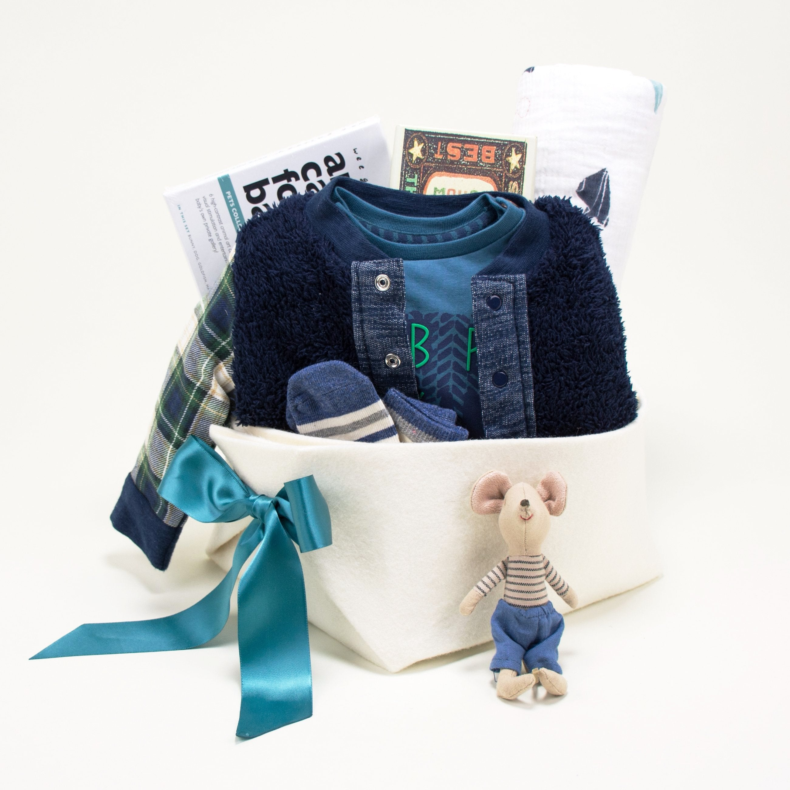 Trendy Baby Boy Gift Basket at Bonjour Baby Baskets
