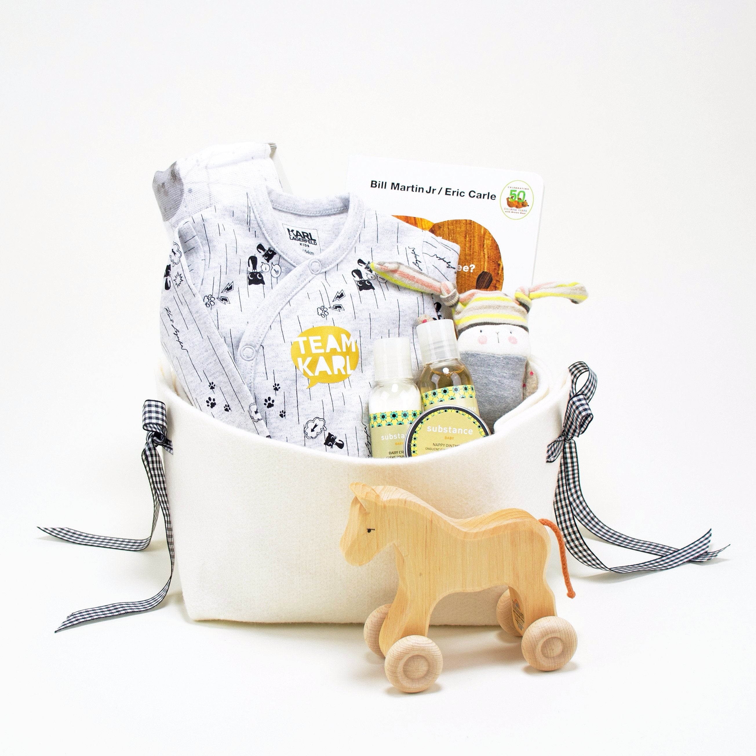 Karl Lagerfeld Kids Luxury Gift Basket at Bonjour Baby Baskets