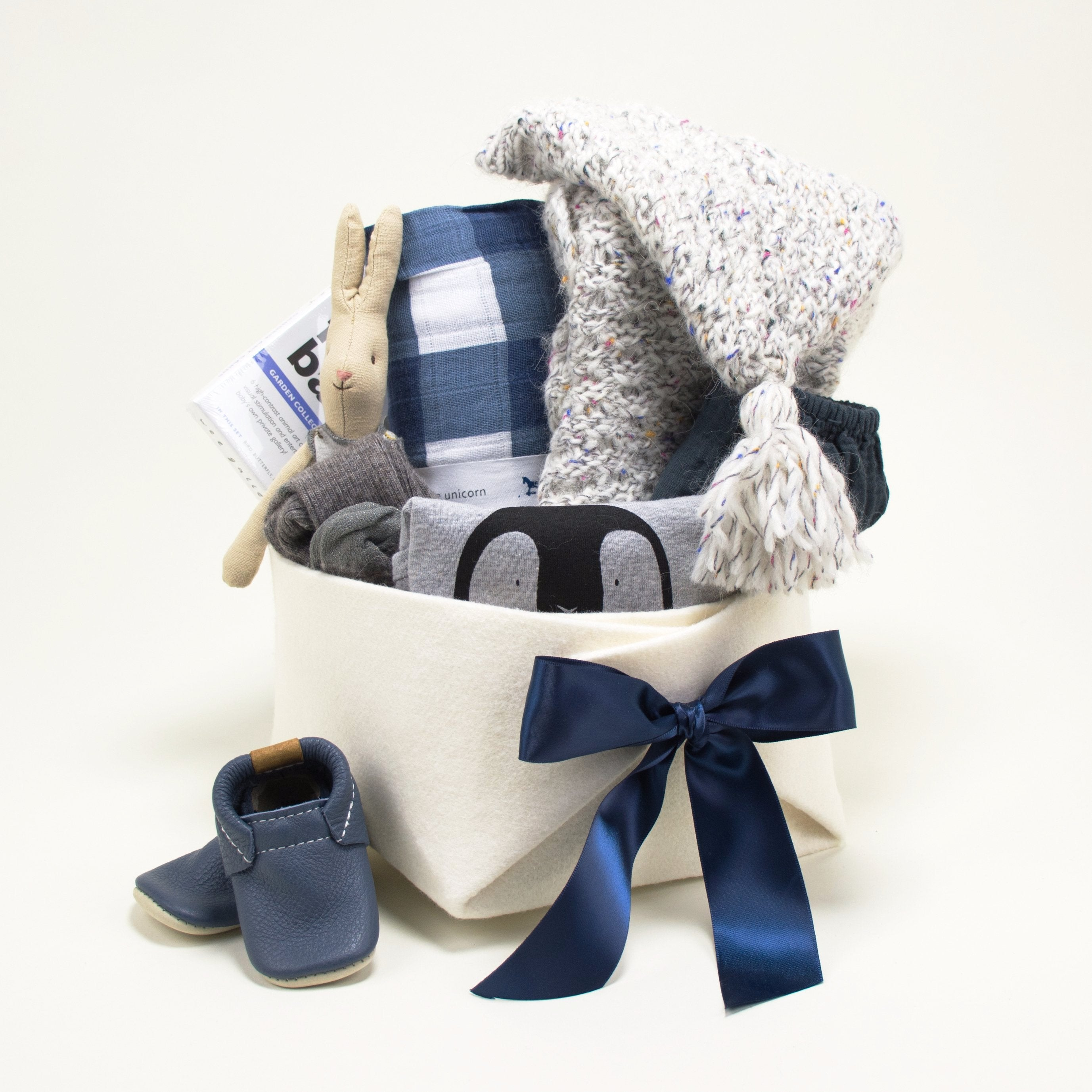 Luxury Baby Gift Basket featuring Buho Barcelona
