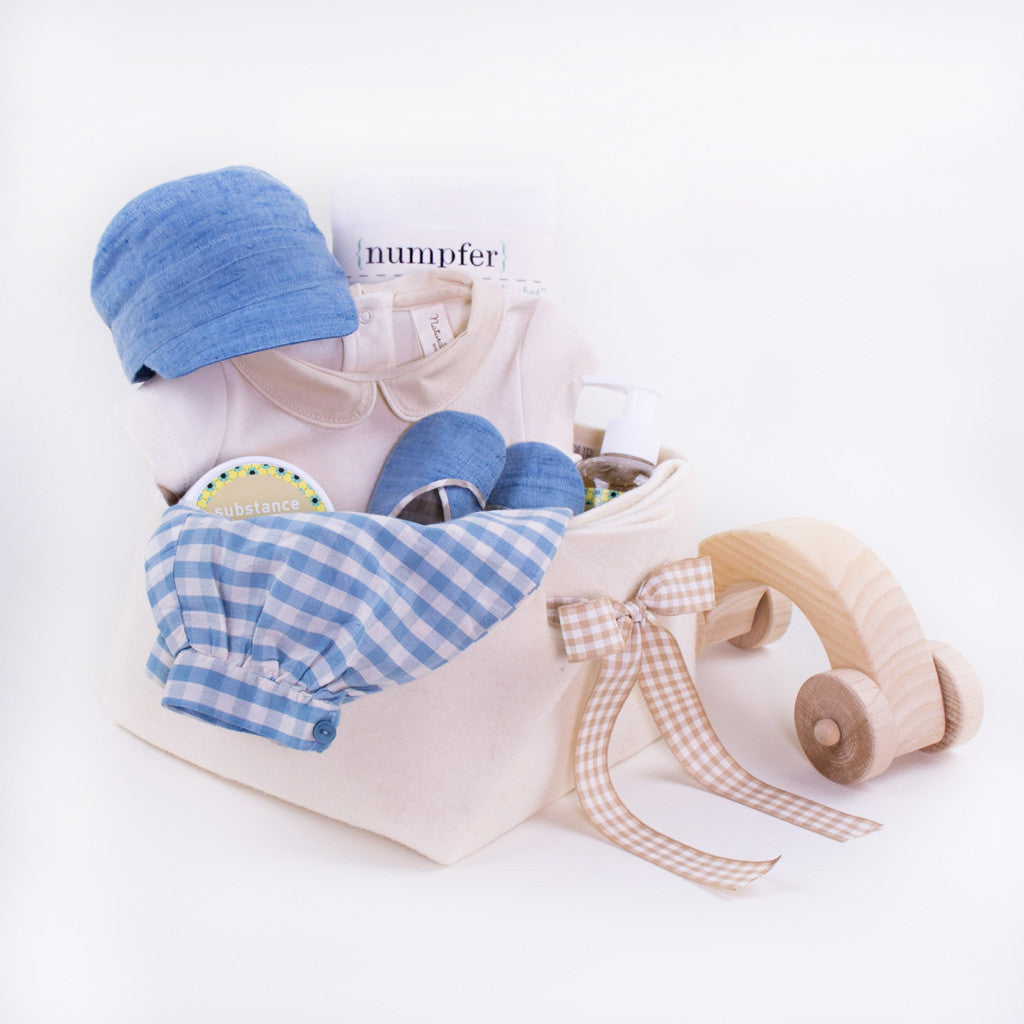 Luxury Baby Boy Gift Basket for the Spring