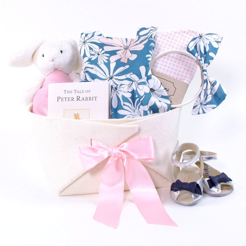 One of a Kind Baby Girl Gift Basket by Bonjour Baby Baskets