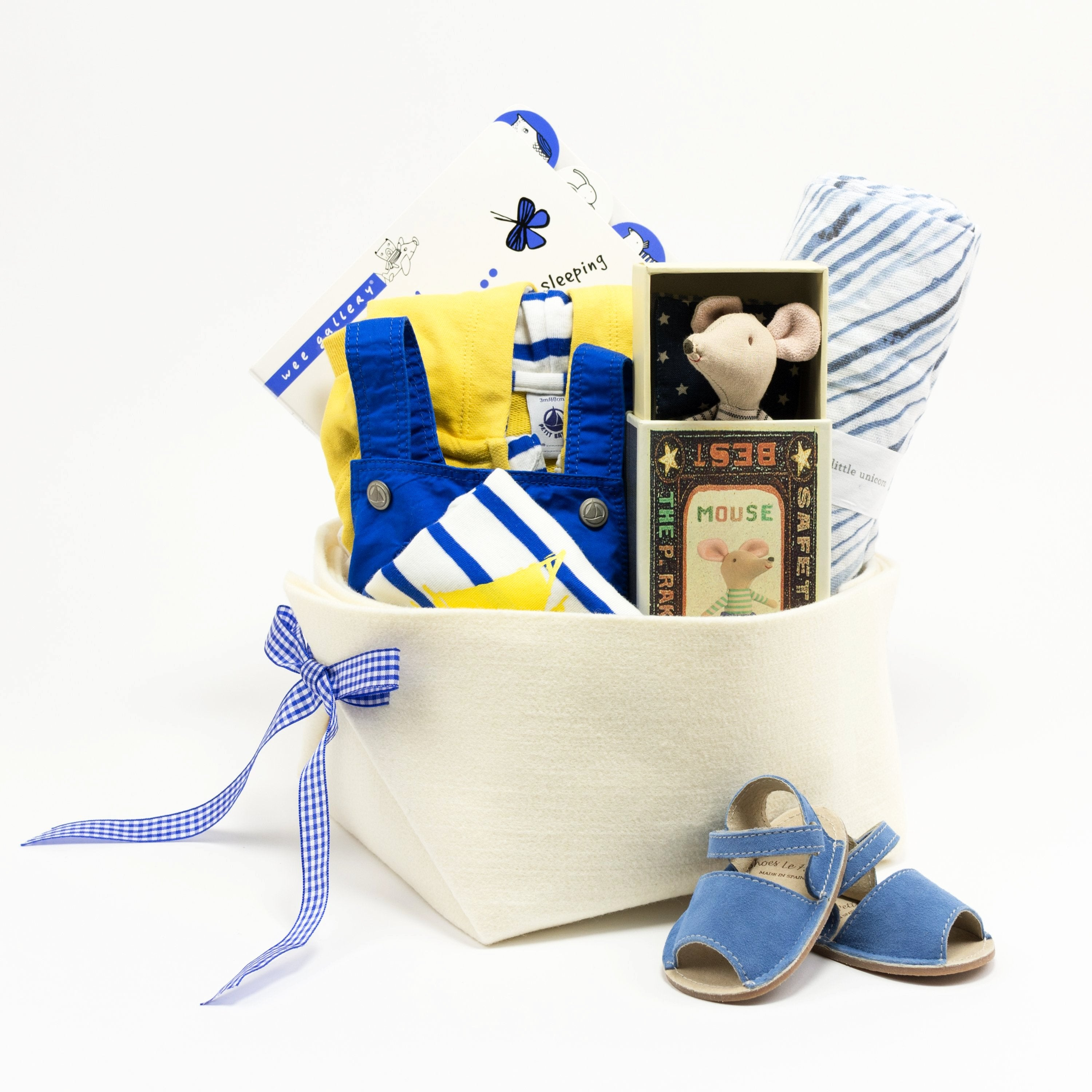Summer Baby Gift Basket featuring Petit Bateau, perfect for your Corporate Baby Gifts