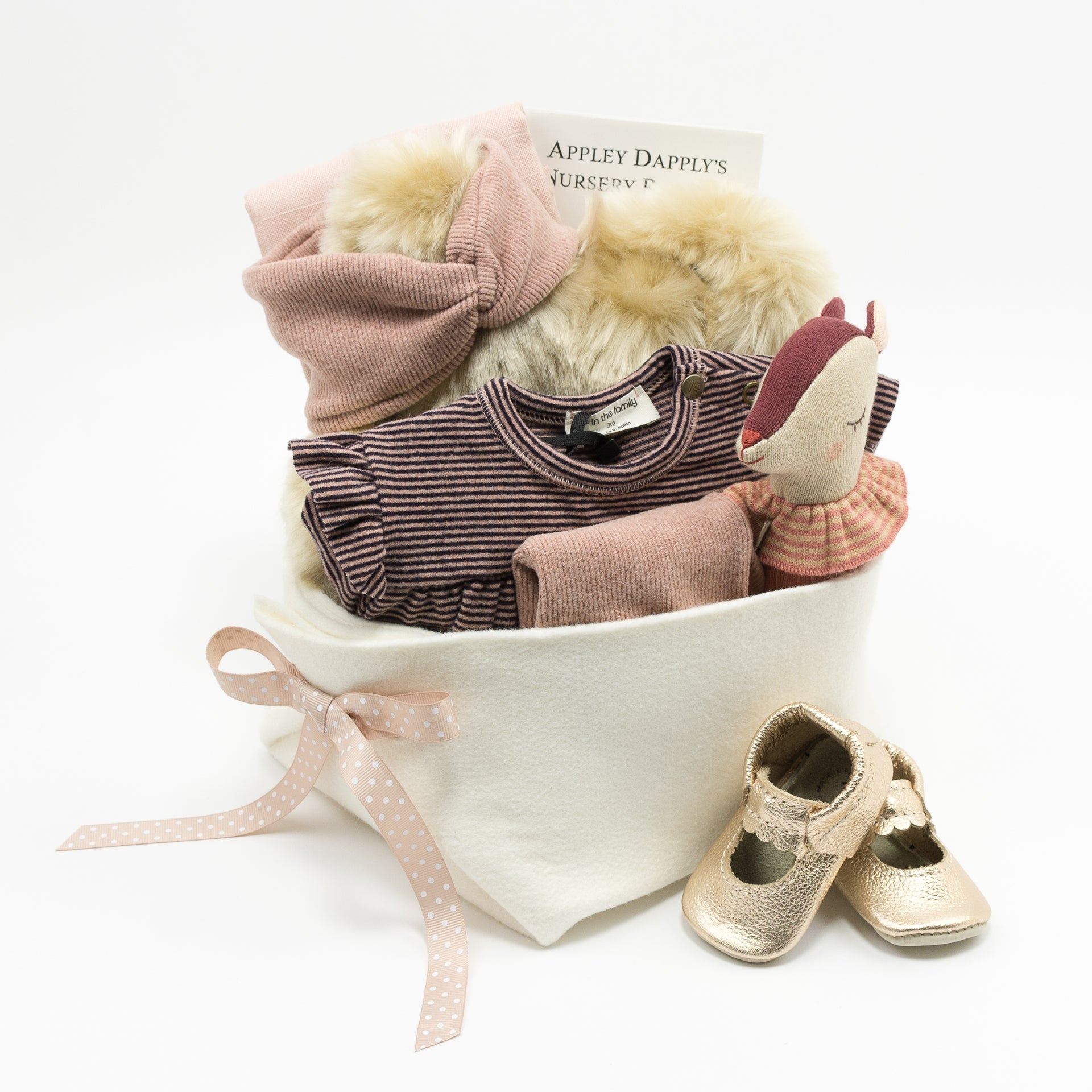 Luxury Baby Girl Gift Basket at Bonjour Baby Baskets, perfect Corporate Baby Gift