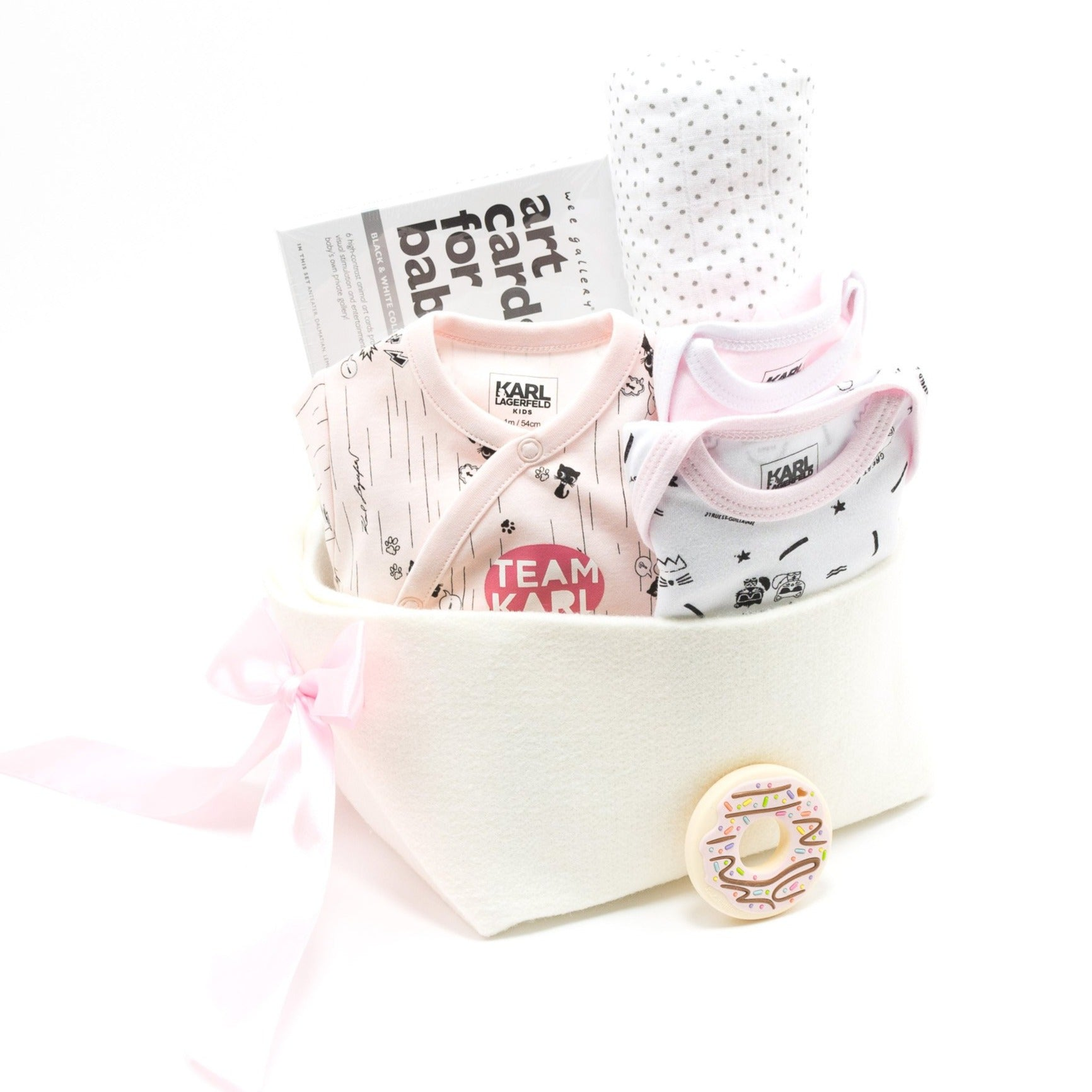 KARL LAGERFELD Kids Baby Boy Gift Basket, perfect Corporate Baby Gift