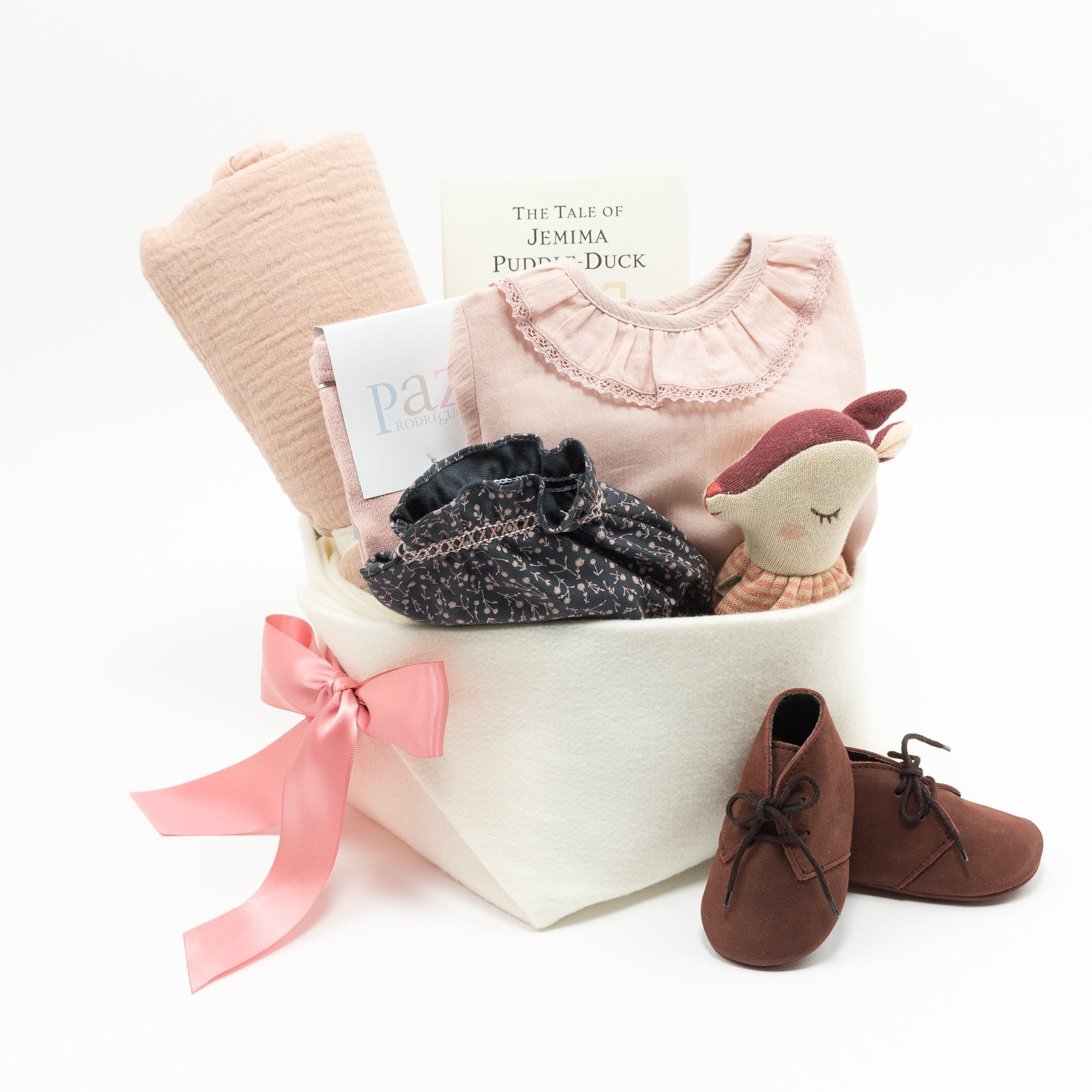 Beautiful Doll Baby Gift Basket
