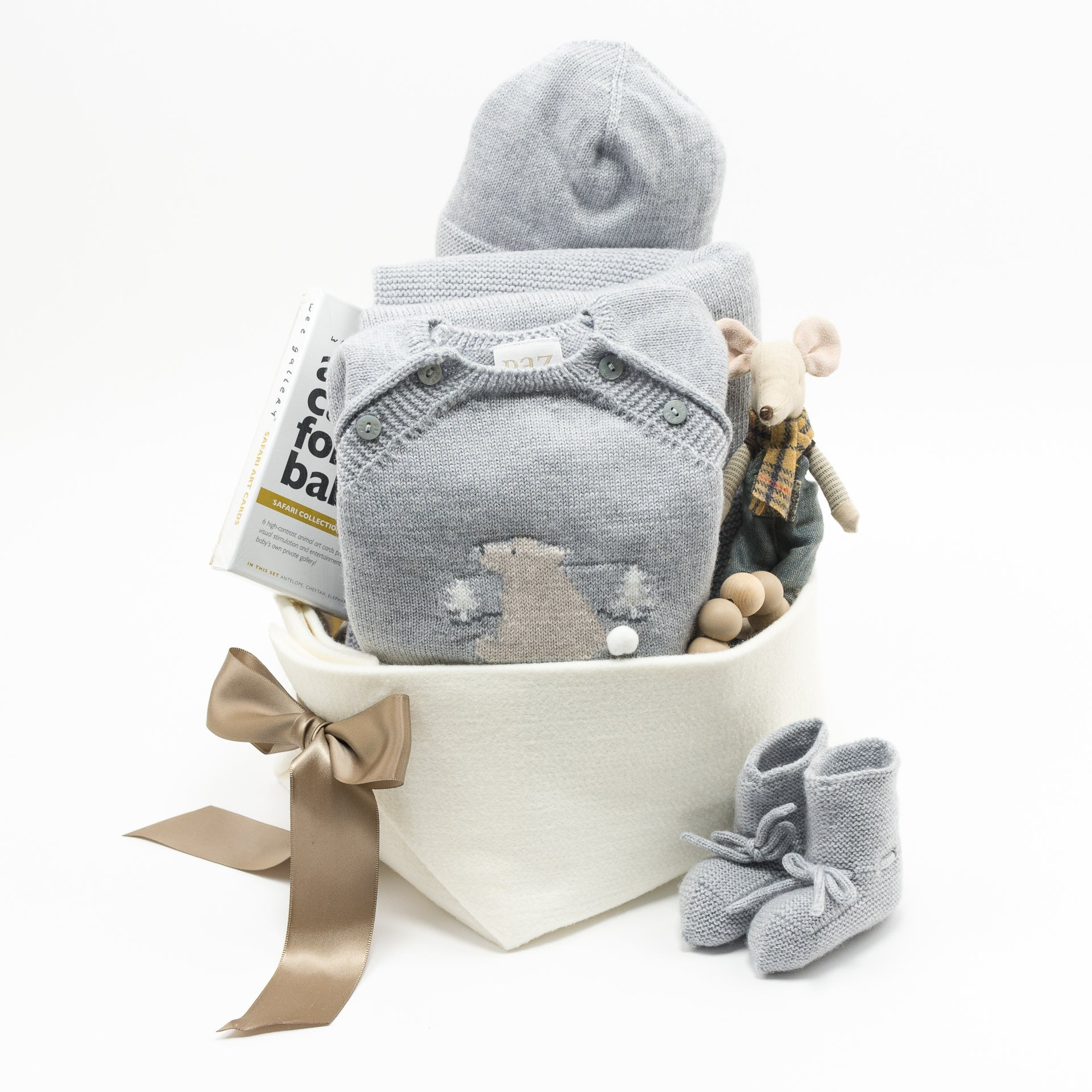 Paz Rodriguez Luxury Baby Gift Basket, perfect Corporate Baby Gift