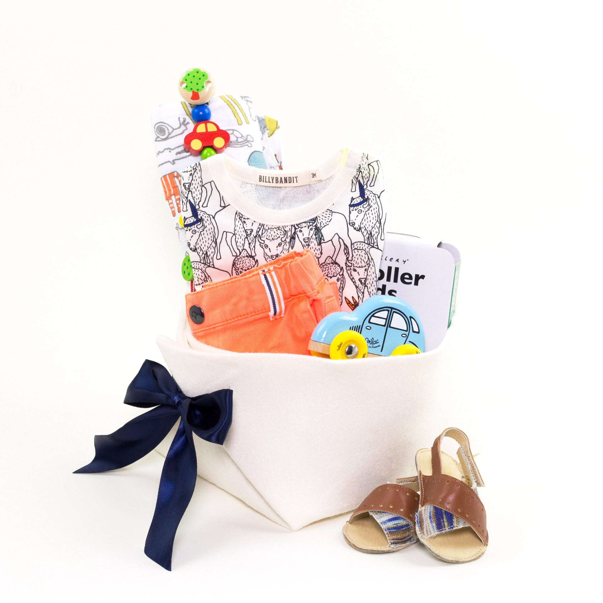 Billybandit Baby Boy Gift Basket at Bonjour Baby Baskets