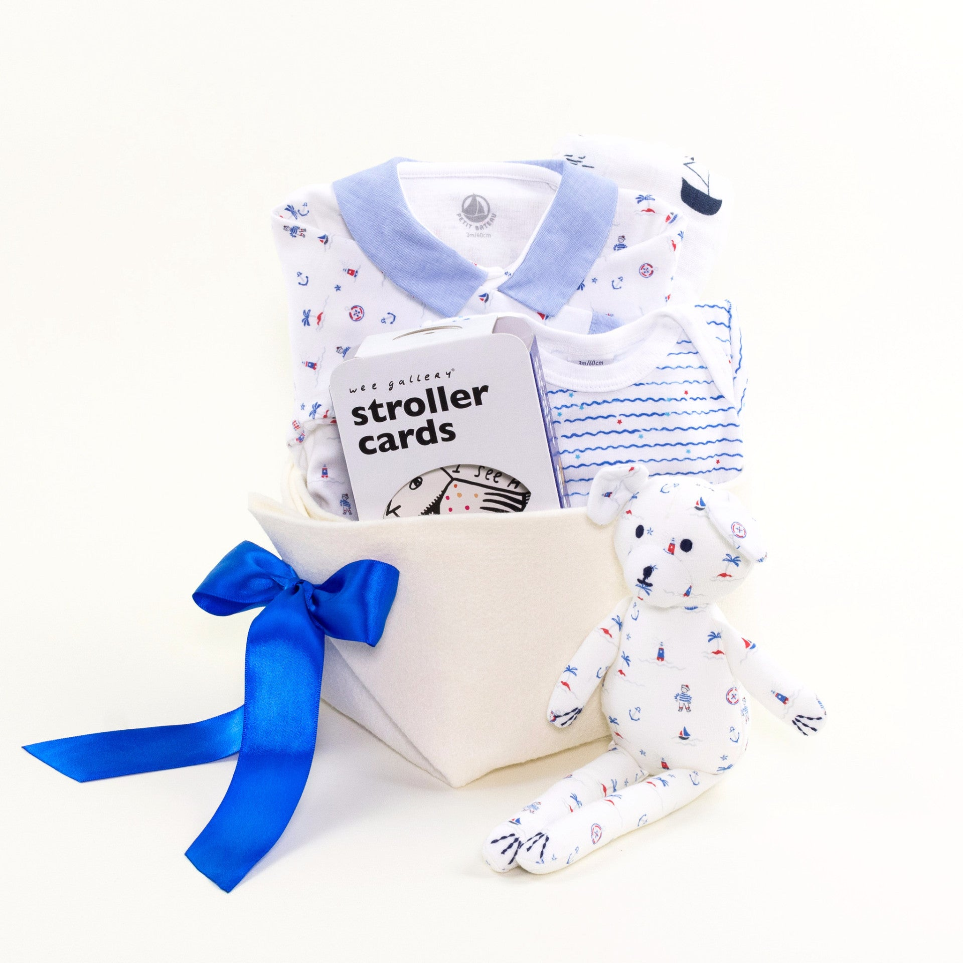 Luxury Baby Boy Gift Basket at Bonjour Baby Baskets
