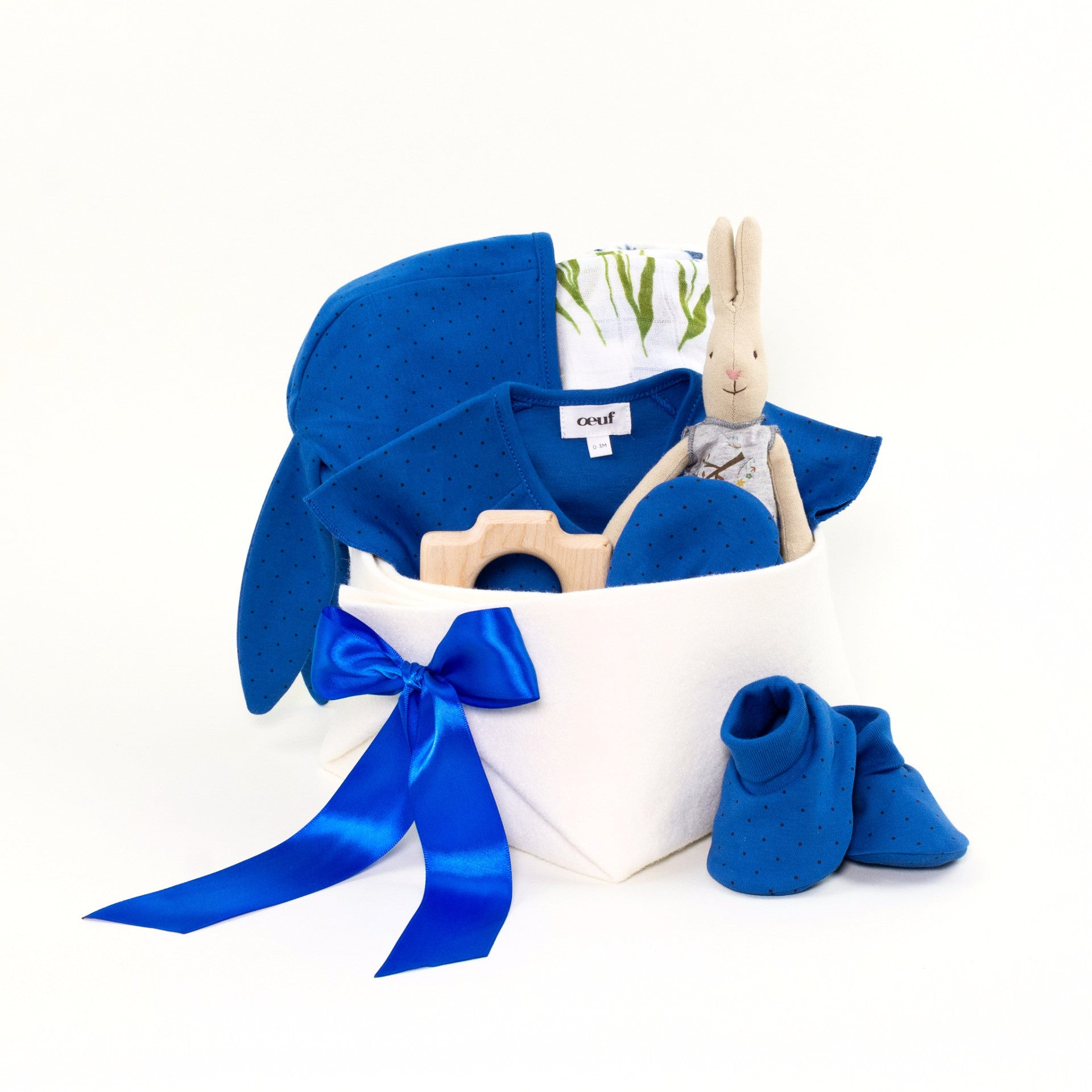Luxury Baby Gift Basket featuring Oeuf at Bonjour Baby Baskets